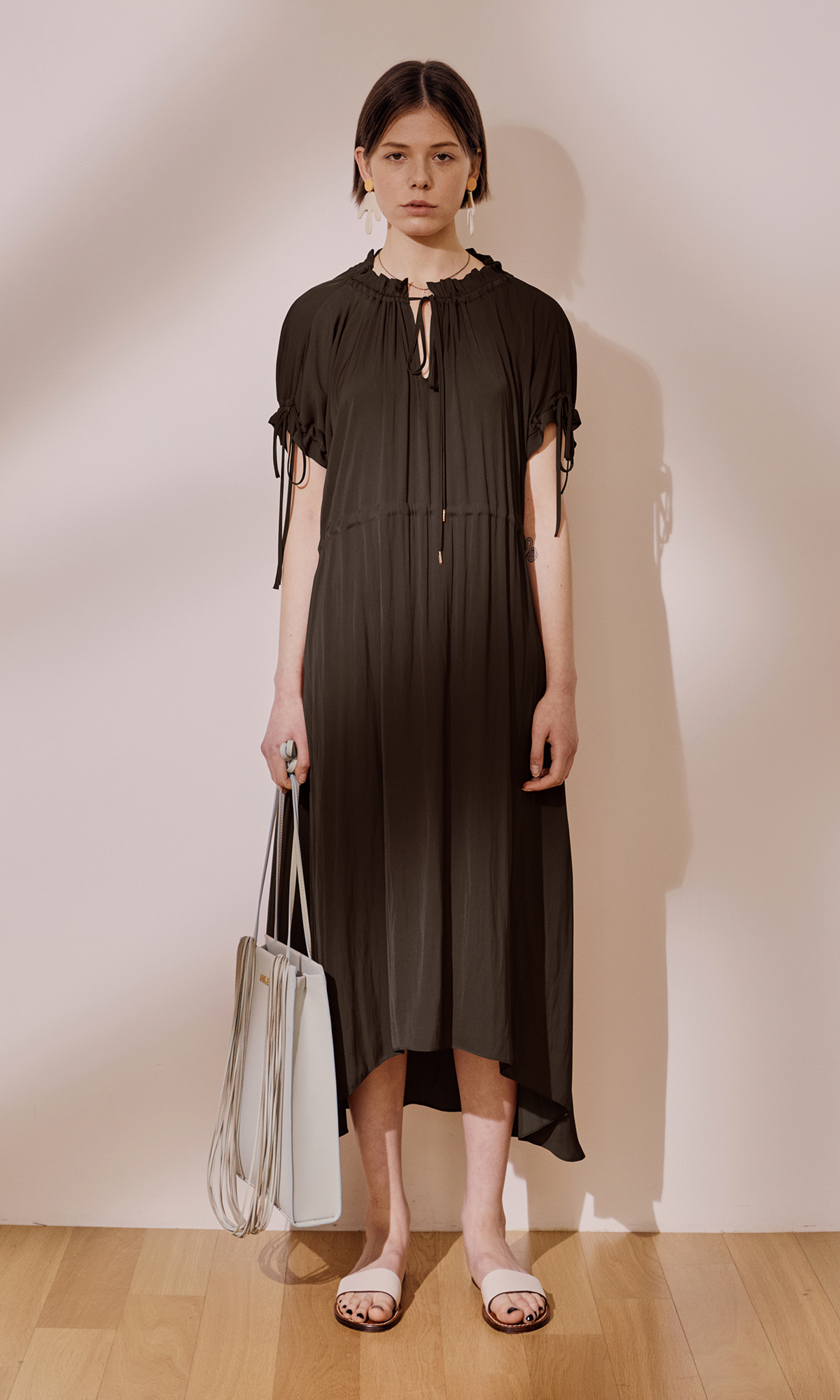 Garden Shirring Dress_Choco Brown (1차 리오더)