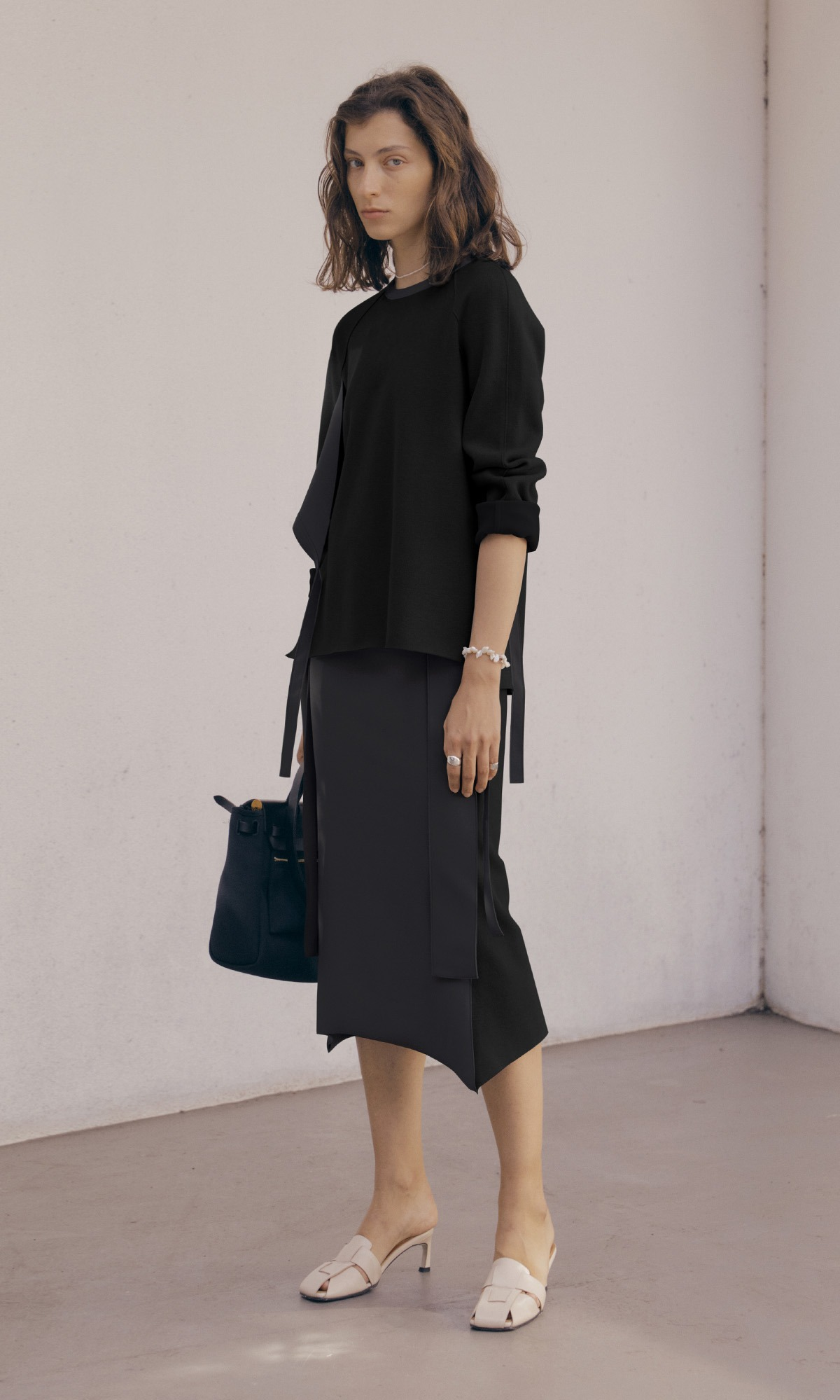 Double Belt Skirt_Charcoal (1차 리오더)