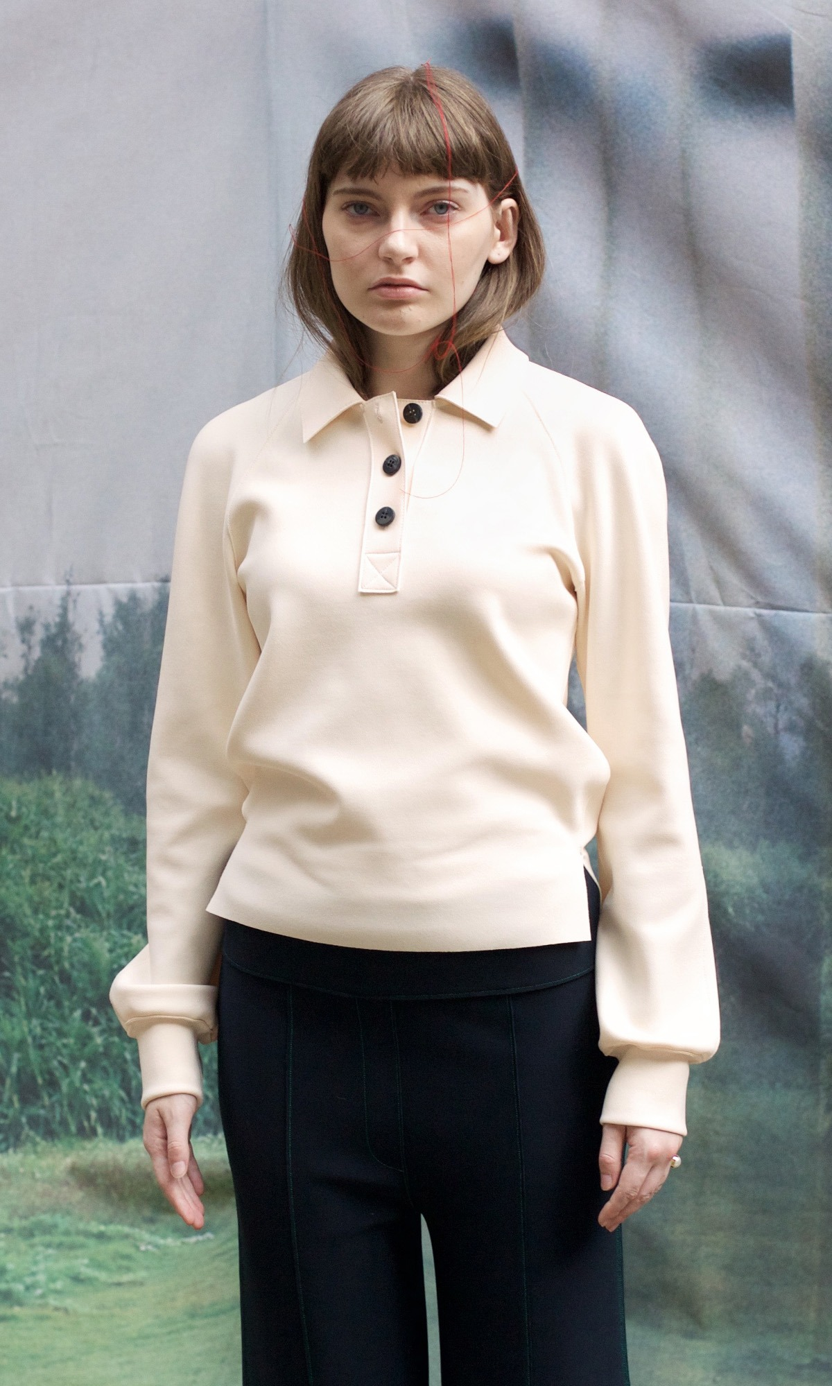 [Exclusive] Basic Button Top_Ivory