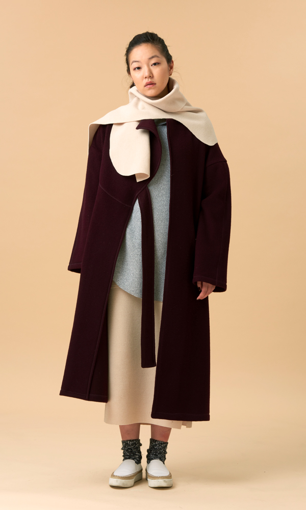(30% Sale) Cinta Wool Jersey Coat