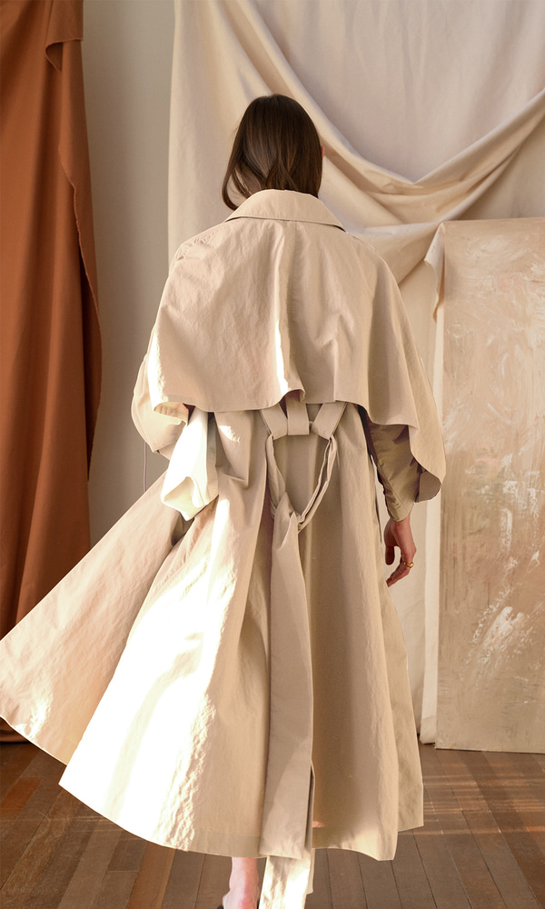 Ronni Over Sized Trench Coat_Windy Beige (5차 리오더)