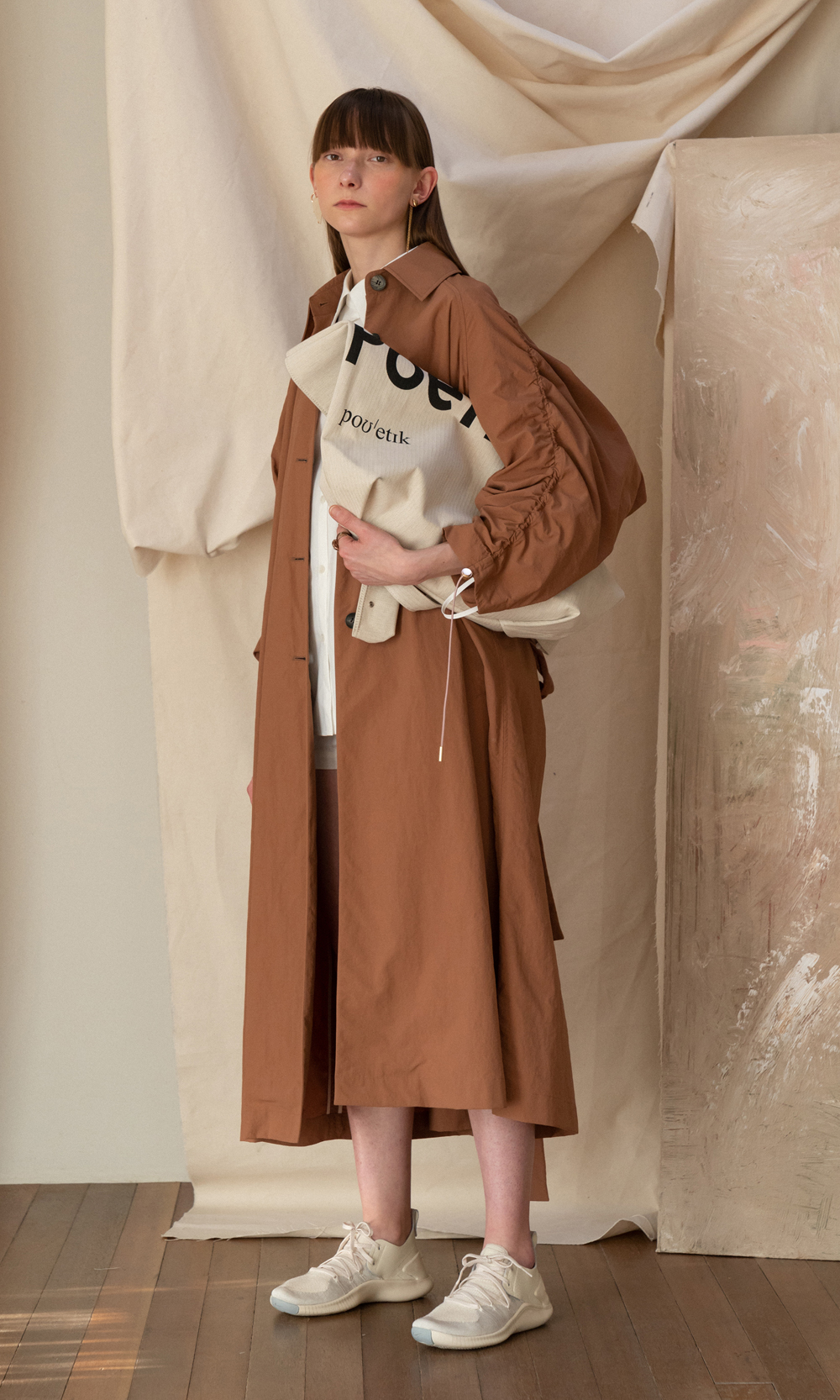 Ronni Over Sized Trench Coat_Pecan Brown (5차 리오더)