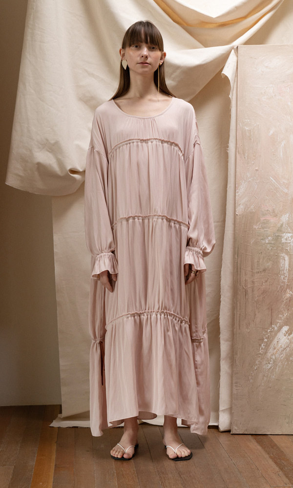 Rouen Gypsy Dress_Pink Beige