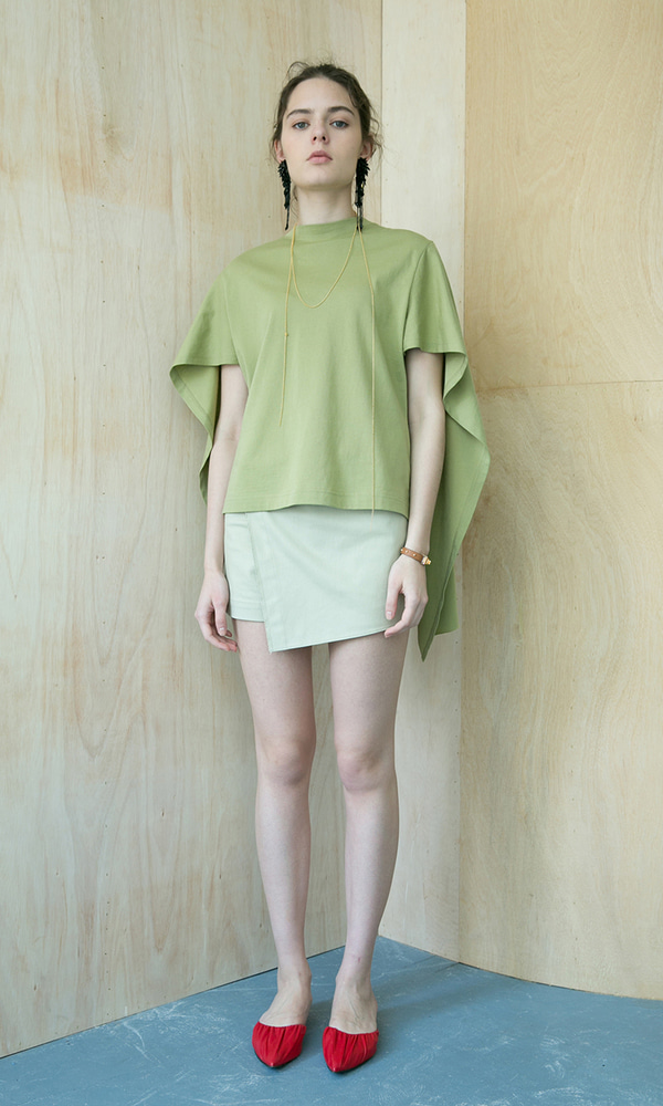 Biu Back Wing Tee_Light Green (5차 리오더)