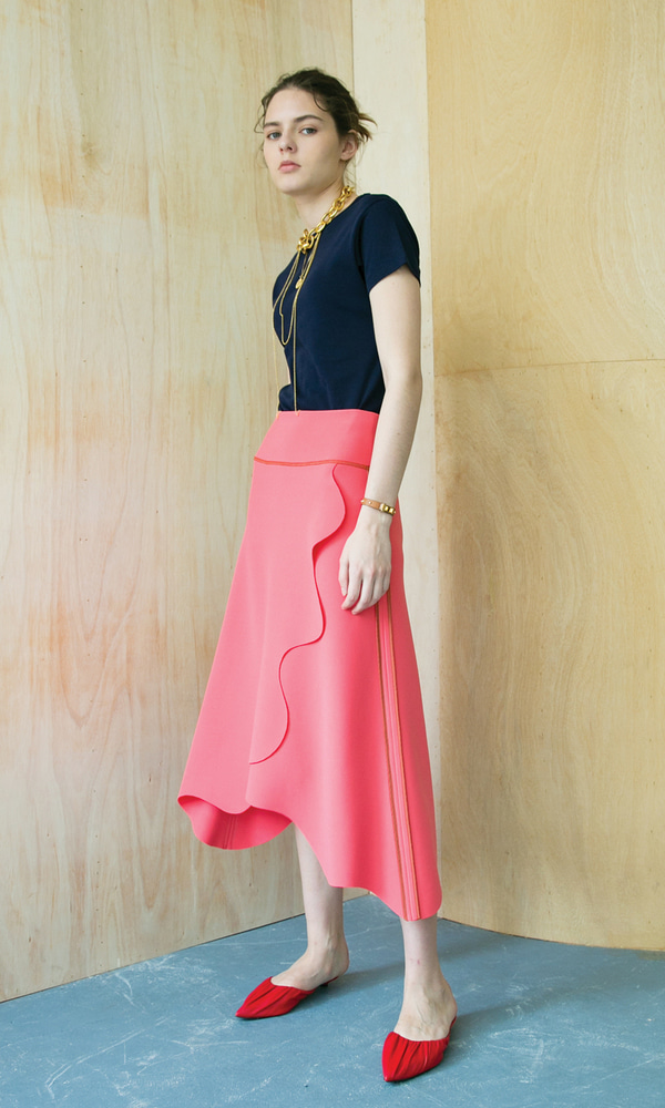 Lund Wave Wrap Skirt_Florida Pink (1차 리오더)