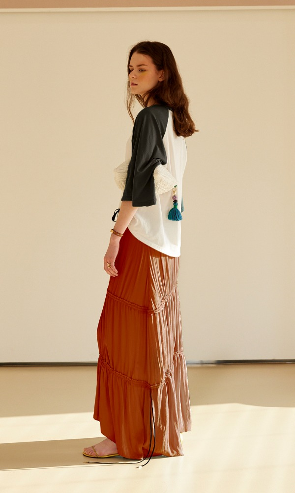 Gipsy Ribbon Skirt_Orange (7/22 순차발송)
