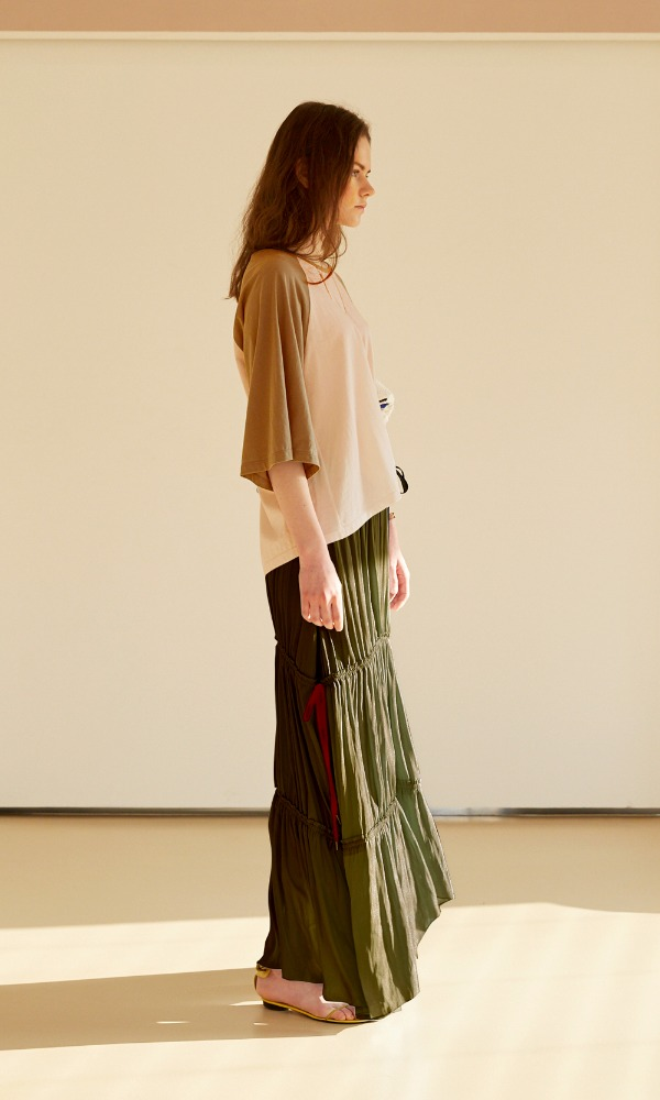 Gipsy Ribbon Skirt_Olive Green (7/22 순차발송)