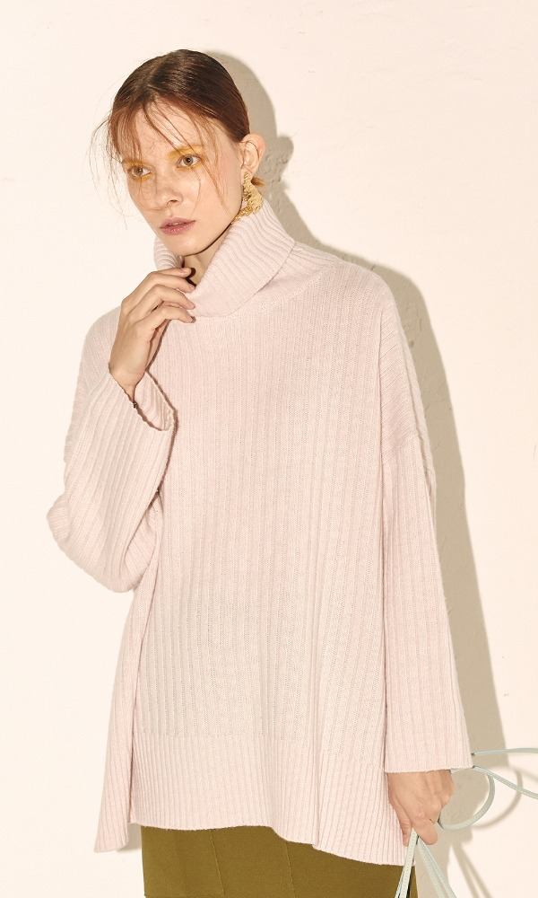 New Cashmere Cape Knit_Pale Pink (3차 리오더)