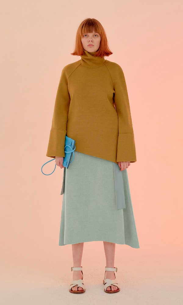 Mocha Crem Knit Skirt_Mint