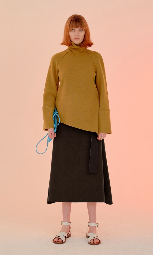 Mocha Crem Knit Skirt_Black