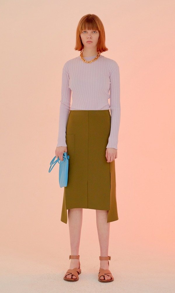 Six Panel Skirt_Herb Green