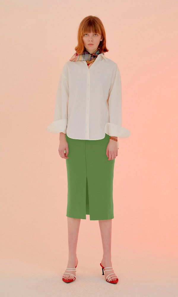Simply Stitched Skirt_Citrus Green