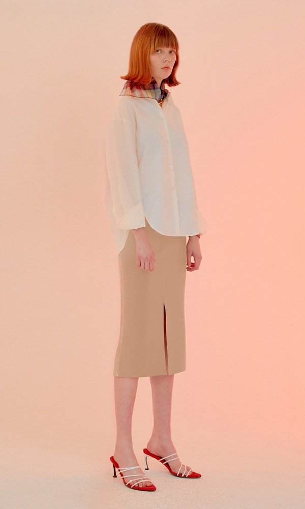 Simply Stitched Skirt_Butter Beige