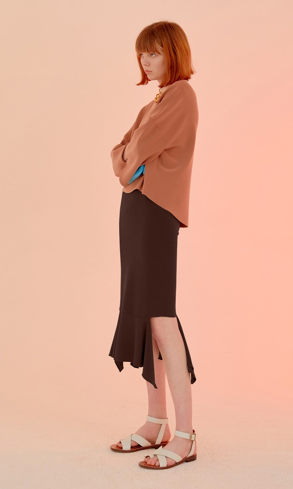 Shirley Skirt_Choco Brown (2차 리오더)