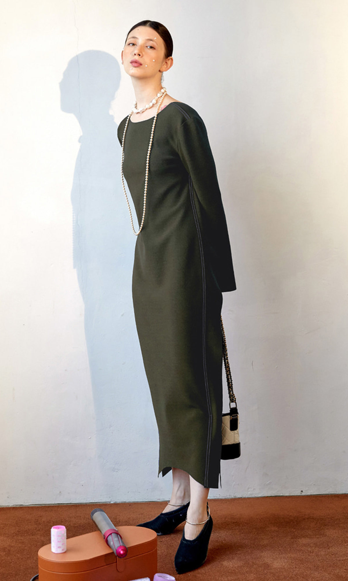 Corso Essential Long Dress_Khaki