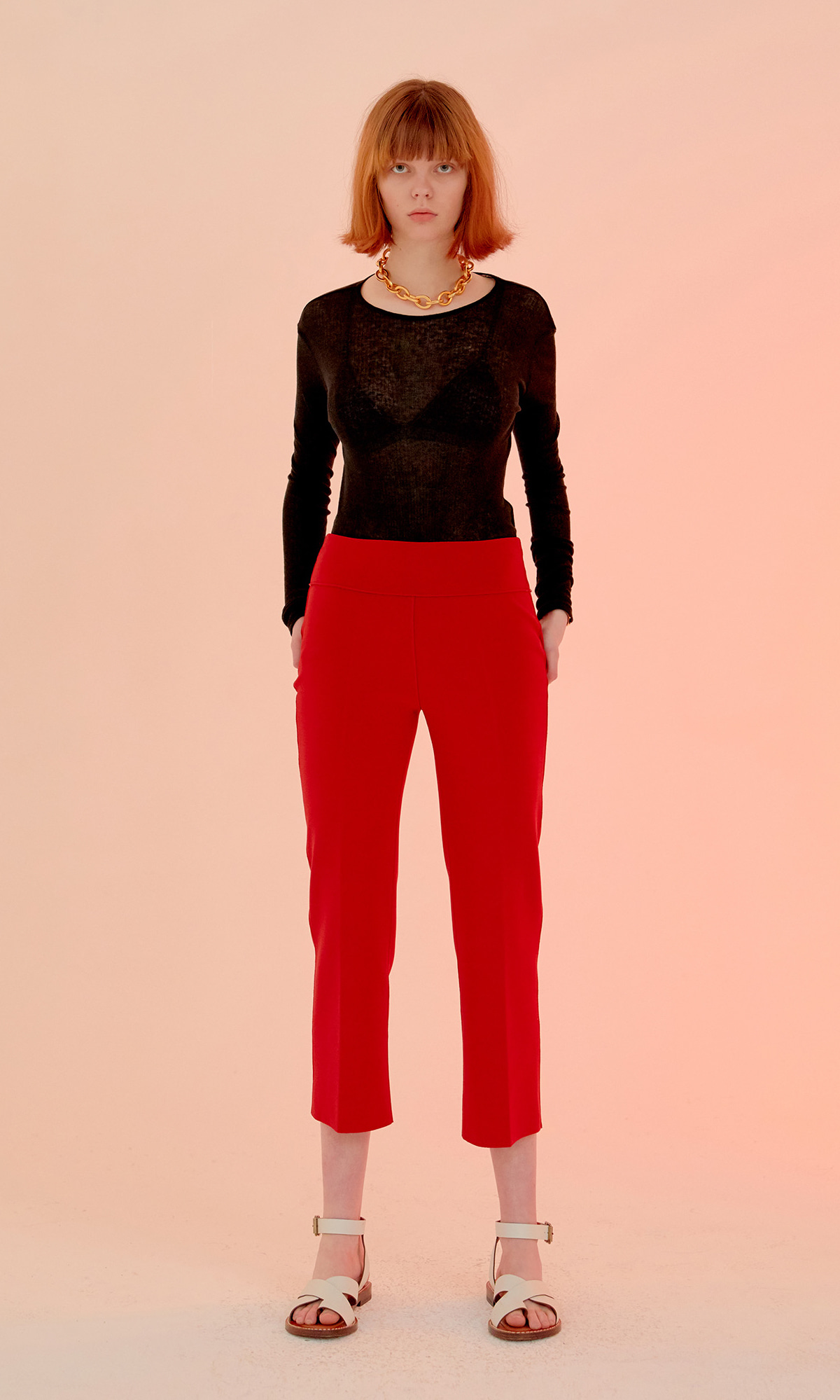Crease Trouser_Red