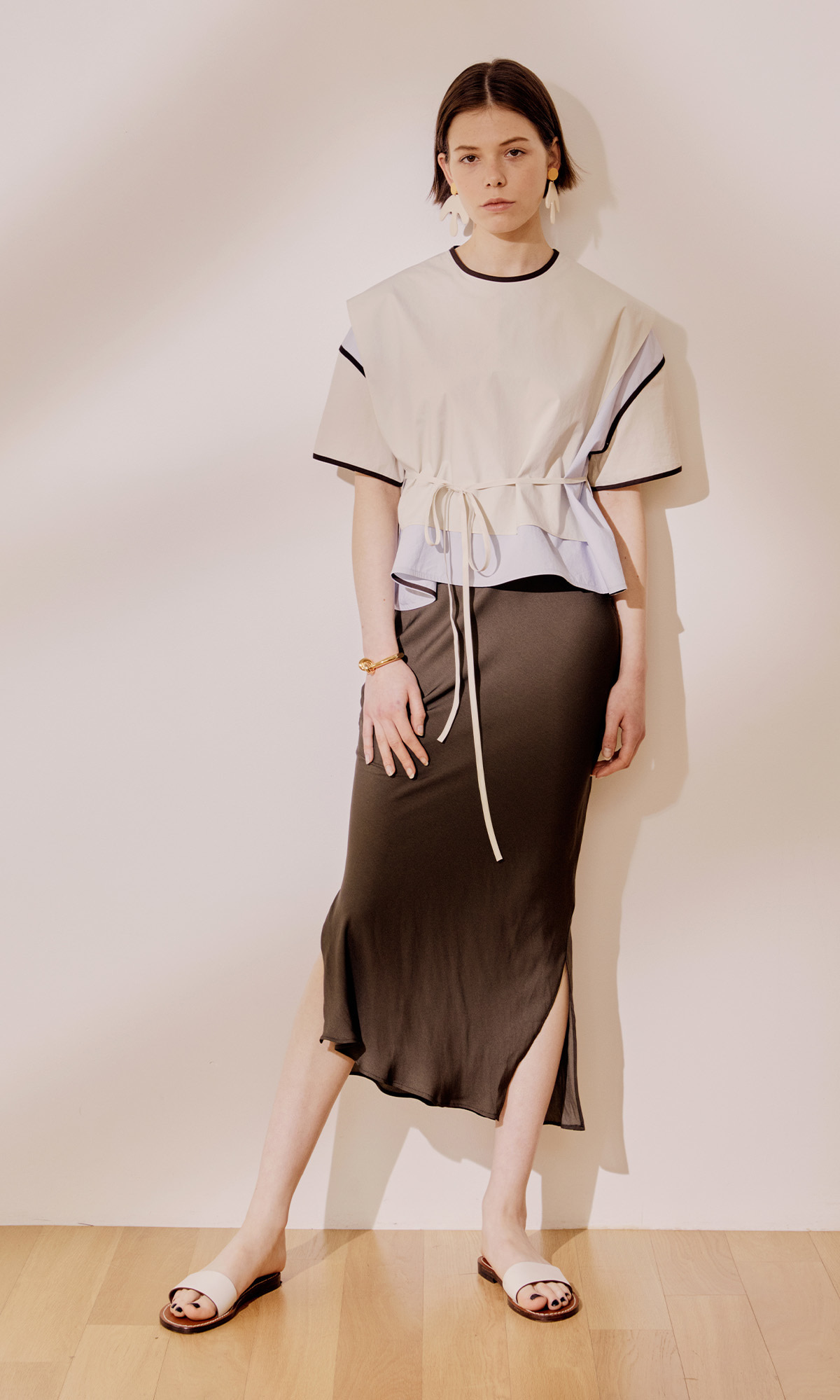Salang Skirt Slit_Brown (1차 리오더)