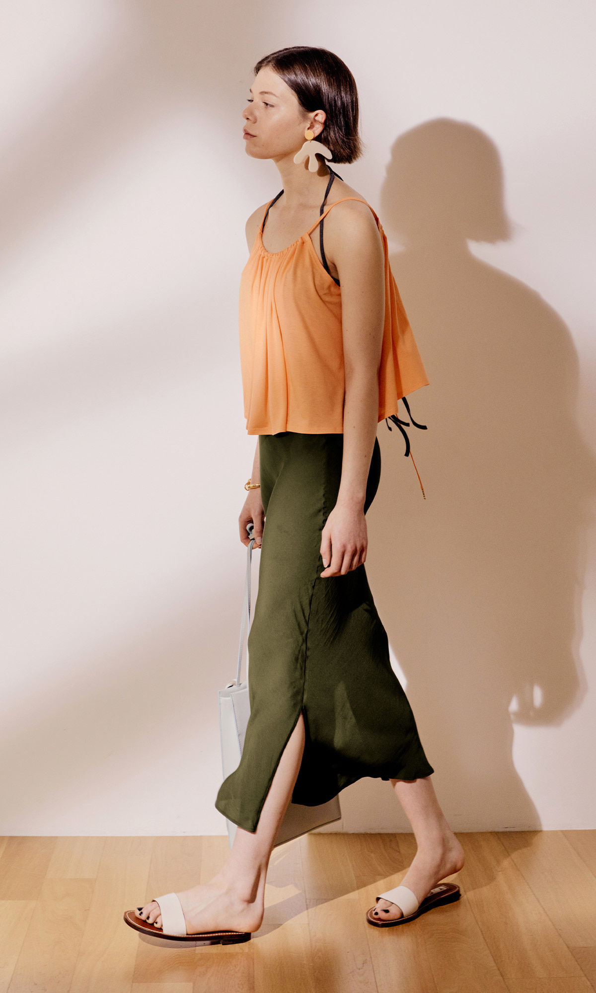 Salang Skirt Slit_Olive Green