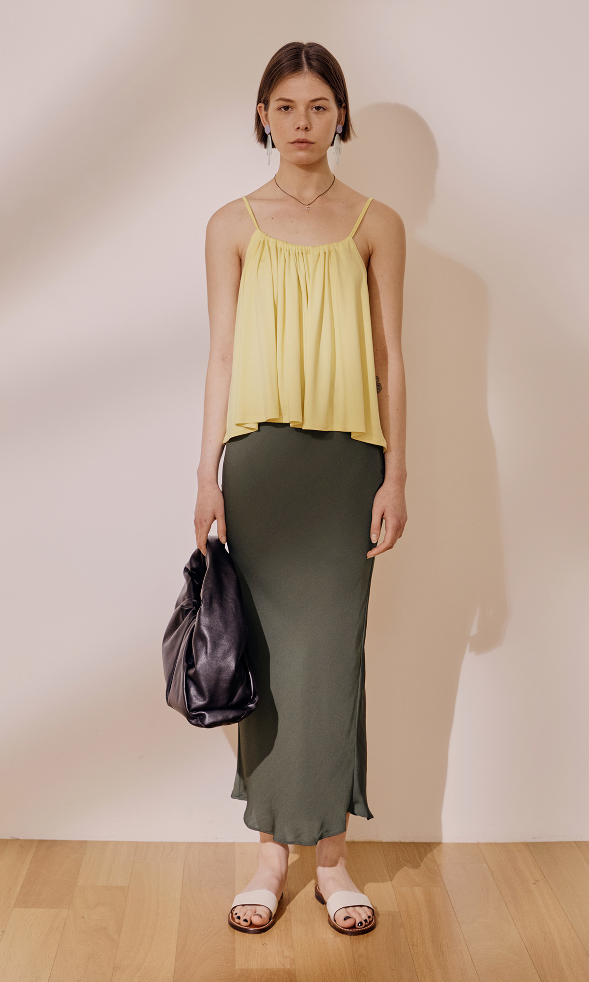 Salang Skirt Original_Milk Khaki (1차 리오더)