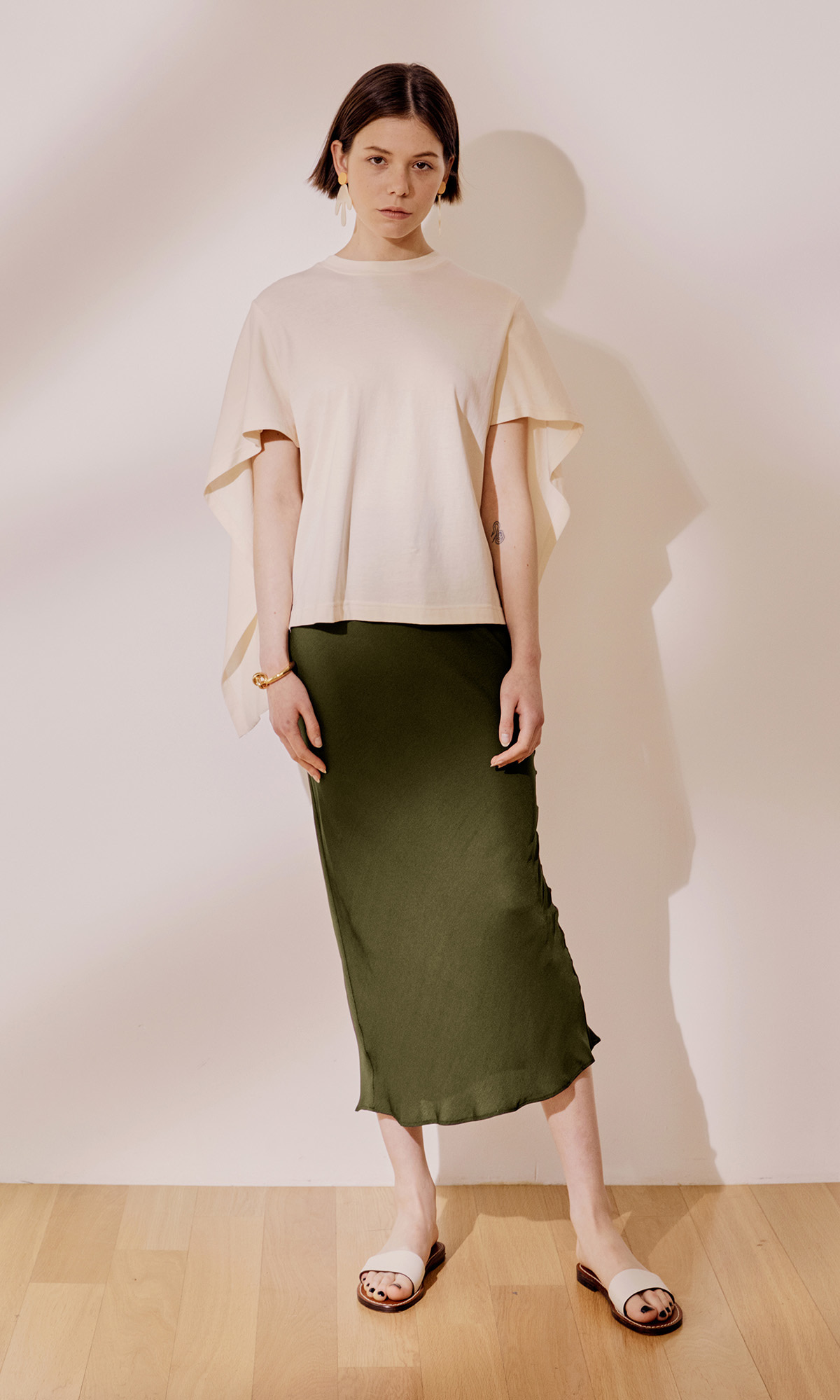 Salang Skirt Original_Olive Green (1차 리오더)