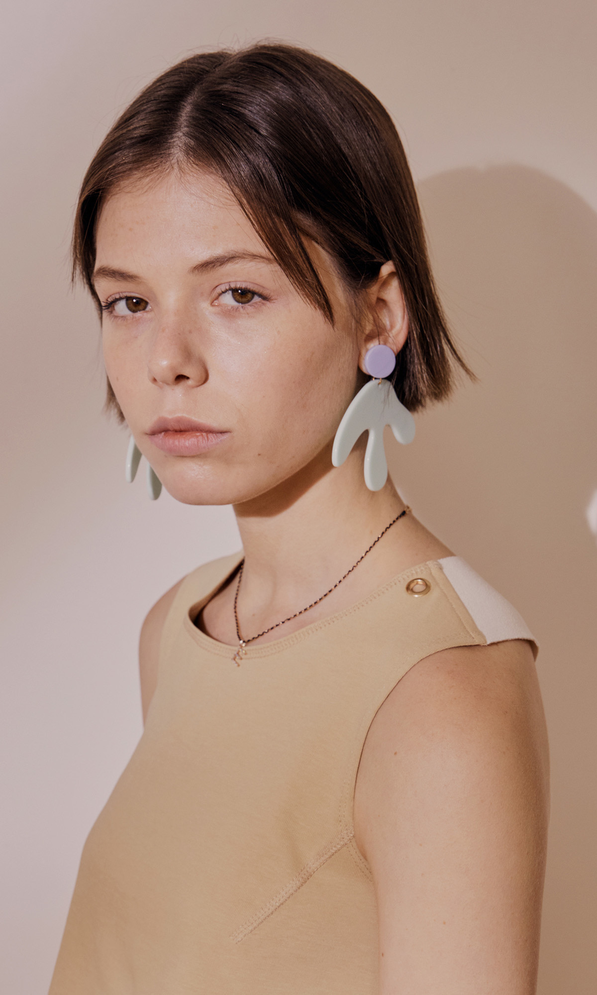 [J.CHUNG X FRUTA] Matisse Monstera Earring_Blue