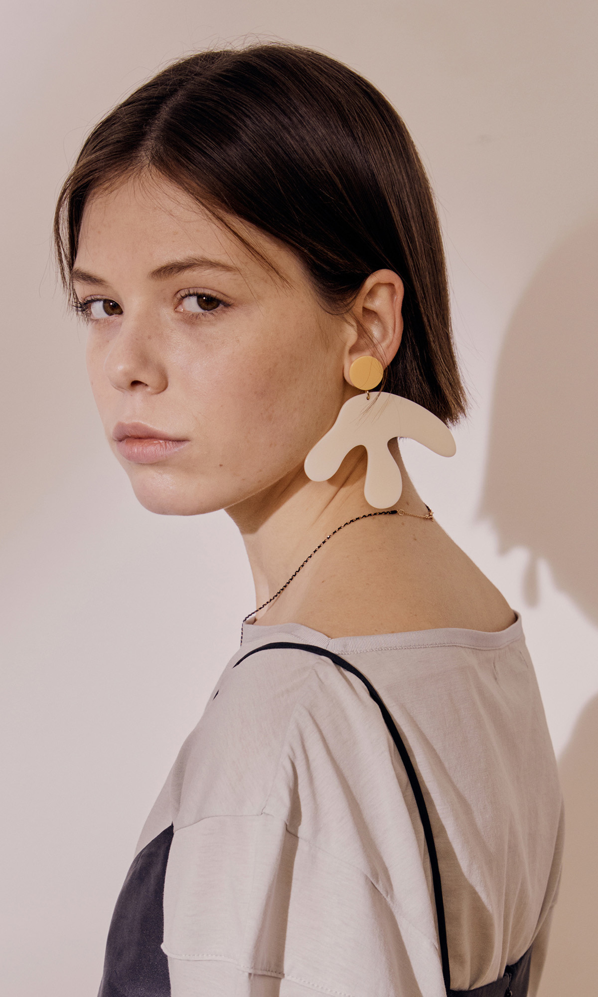 [J.CHUNG X FRUTA] Matisse Monstera Earring_Orange