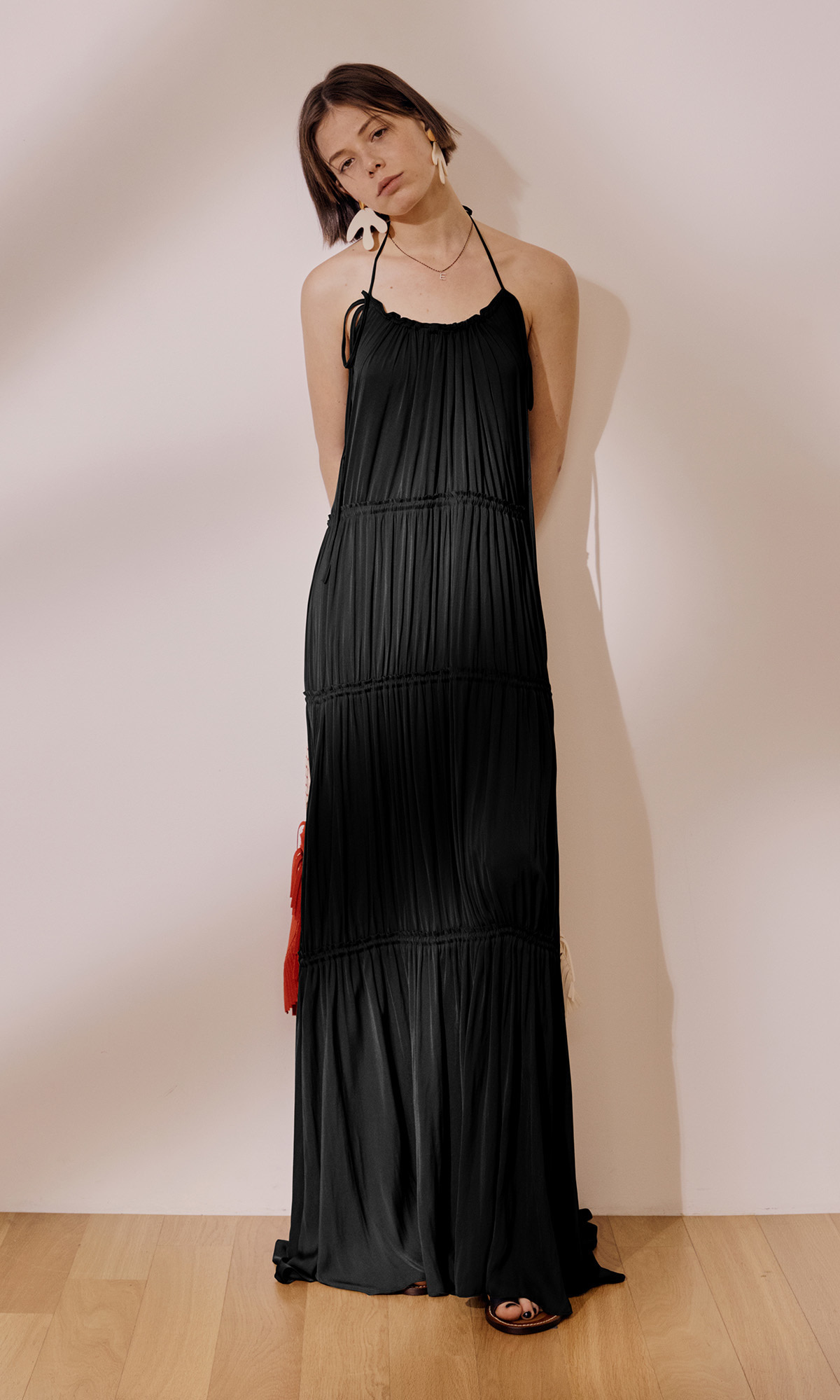 Gypsy Halterneck Dress_Black