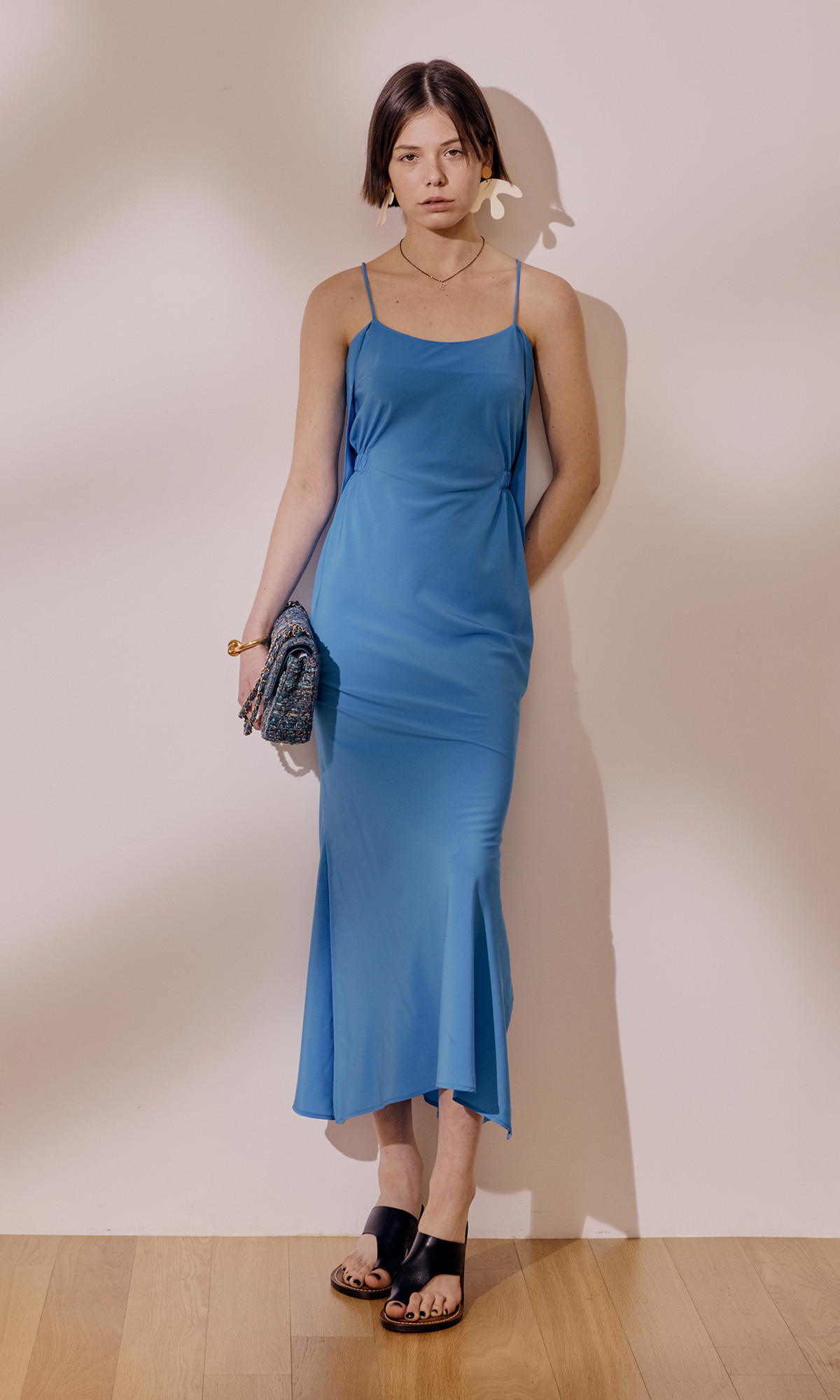 Blank Back Dress_Aqua Blue