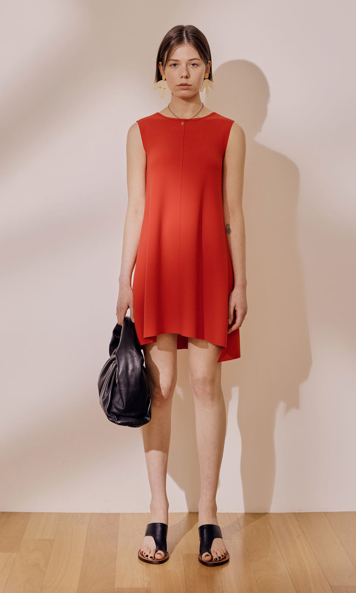 Oron Back Point Dress_Red