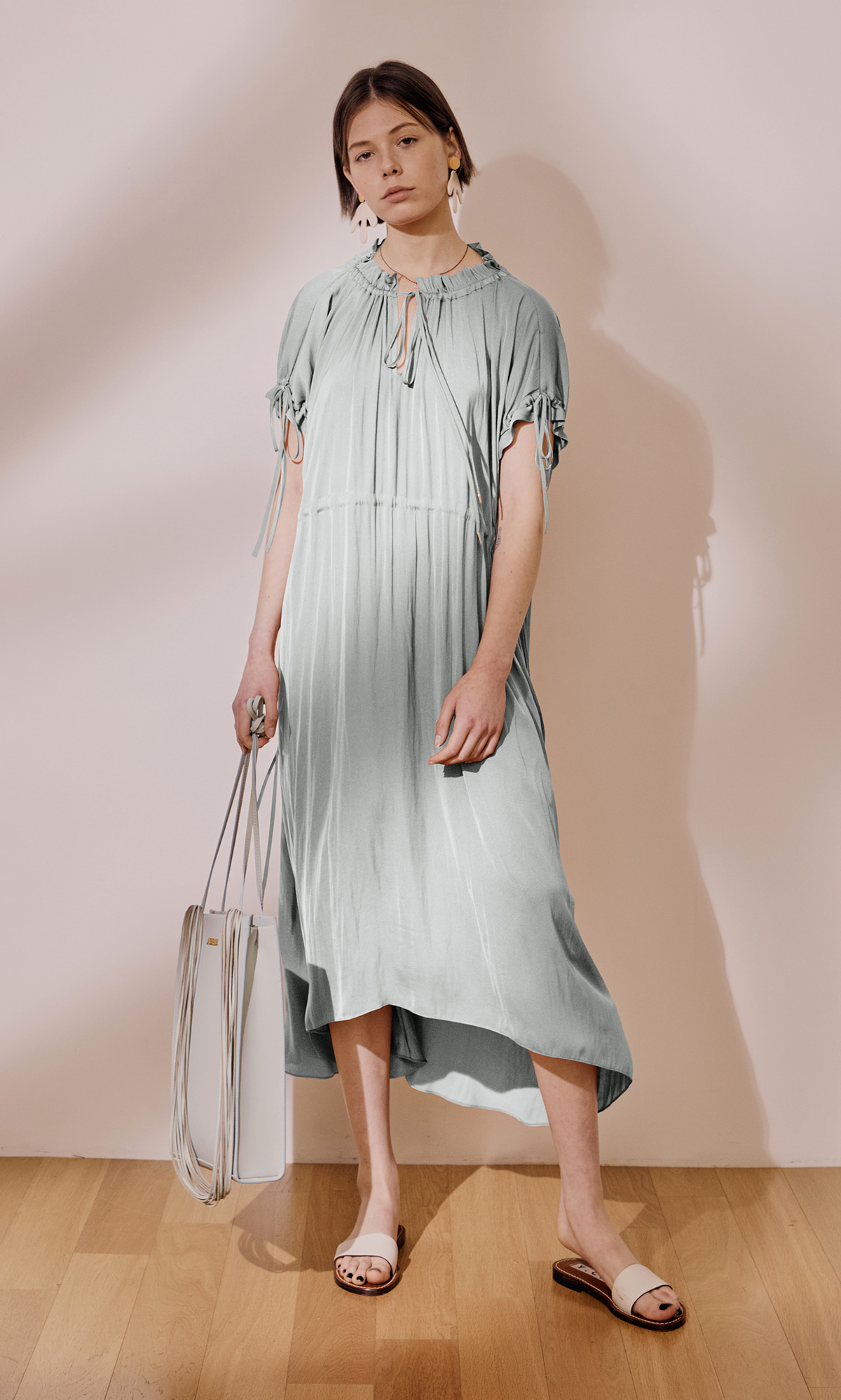Garden Shirring Dress_Sky Blue (1차 리오더)