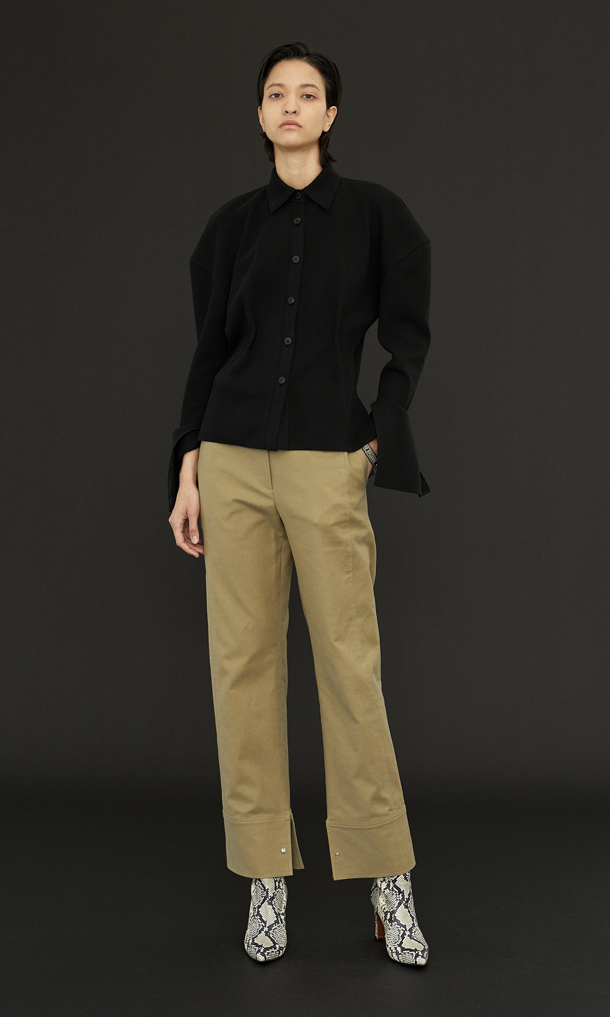 Dion Stitch Trouser_Khaki