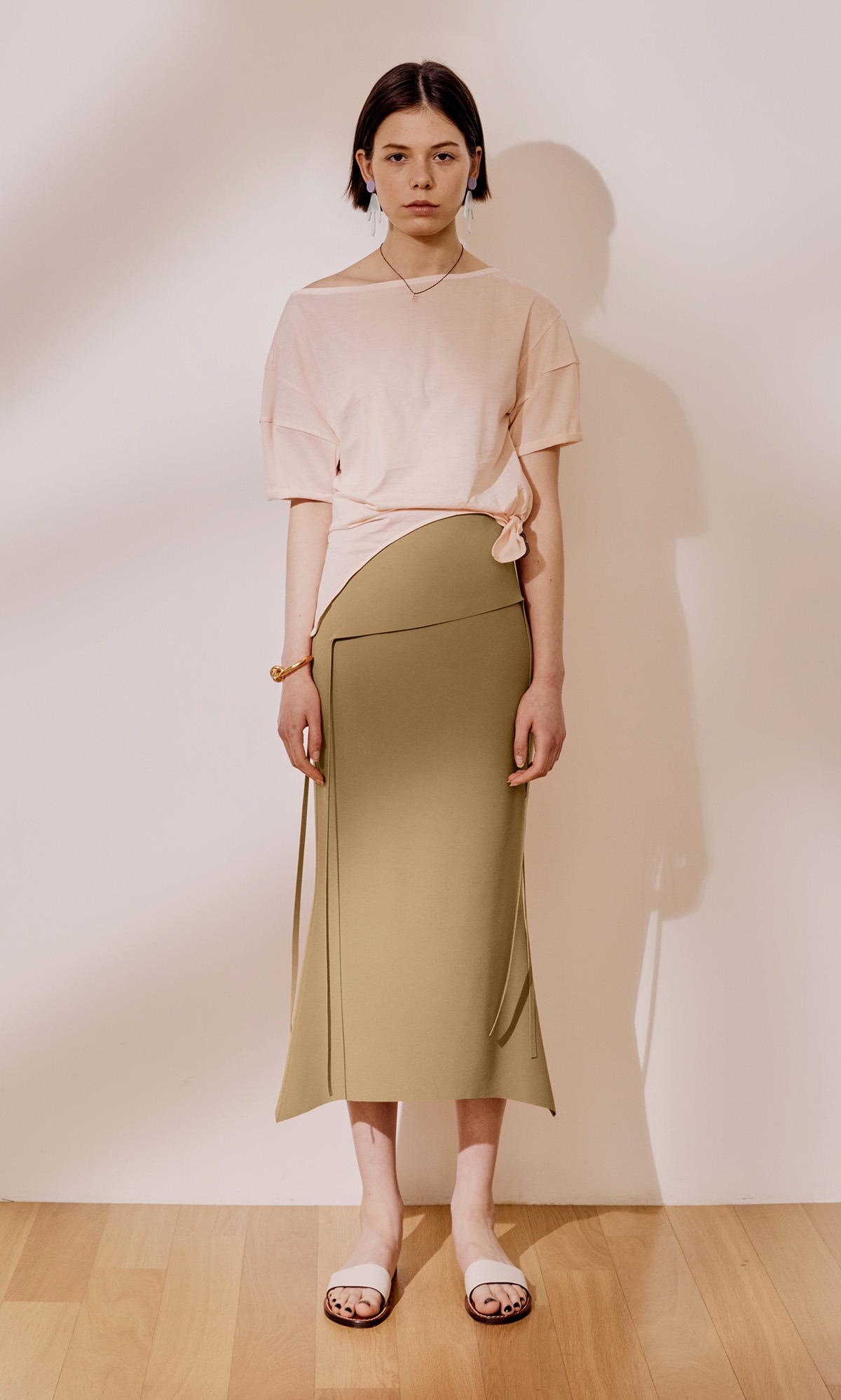 Panel Mermaid Skirt_Mustard Olive (1차 리오더)