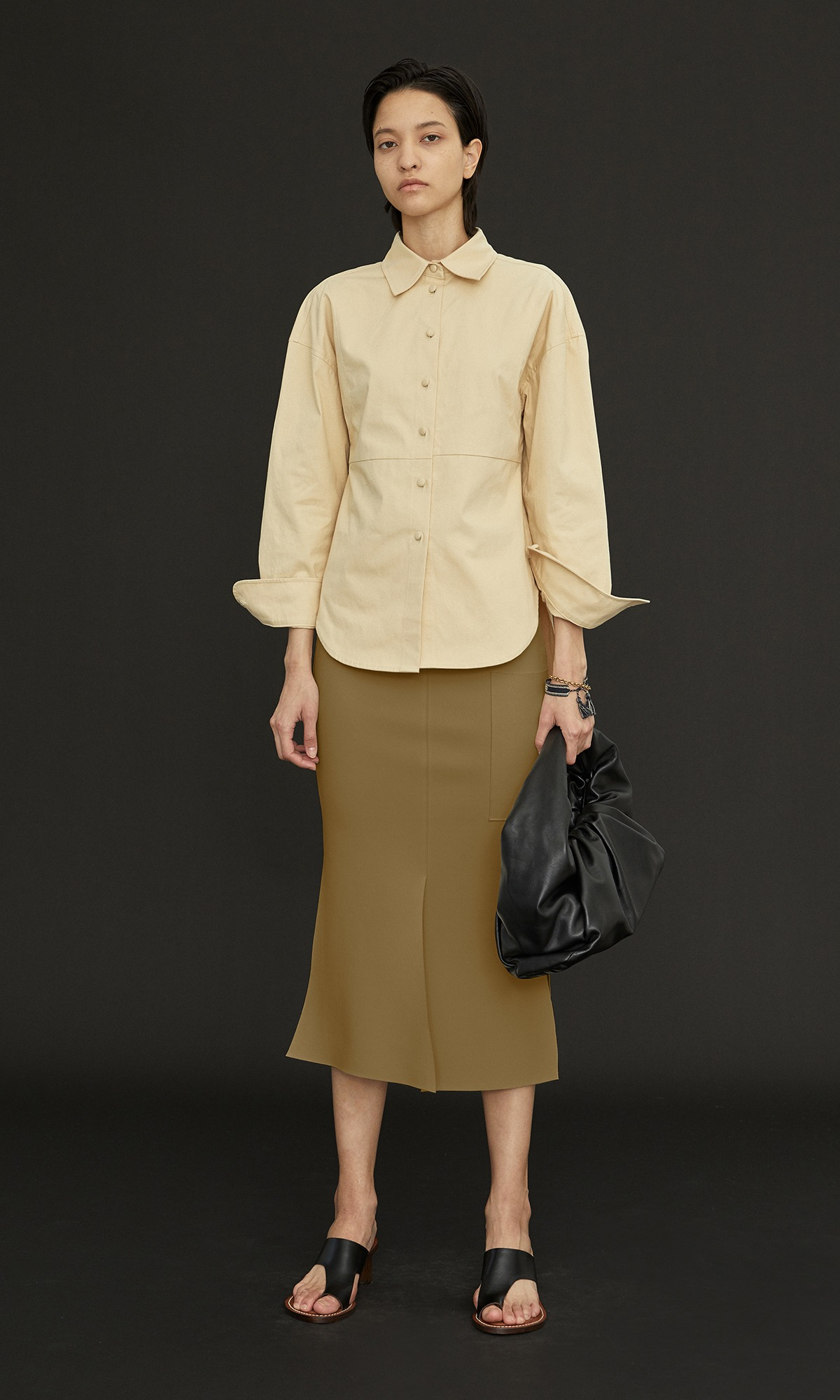 Windy Pocket Skirt 20_Mustard Olive (1차 리오더)