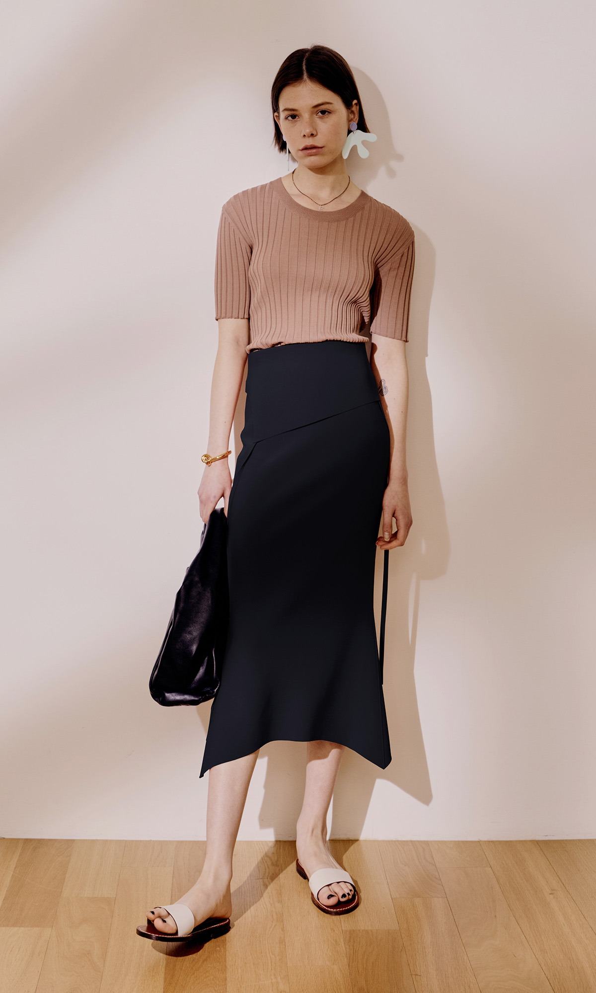 Panel Mermaid Skirt_Dark Navy (2차 리오더)