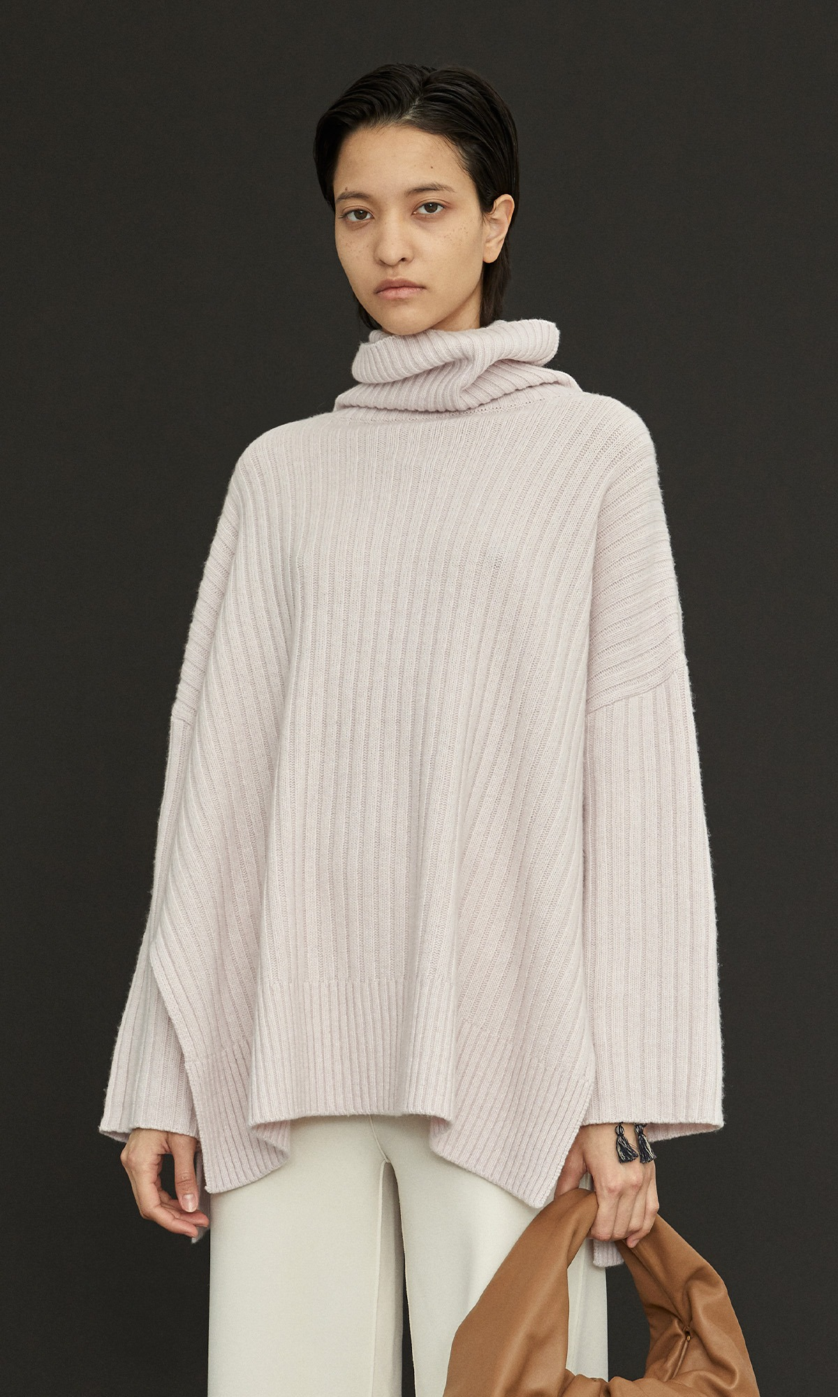 New Cashmere Cape Knit_Pale Pink