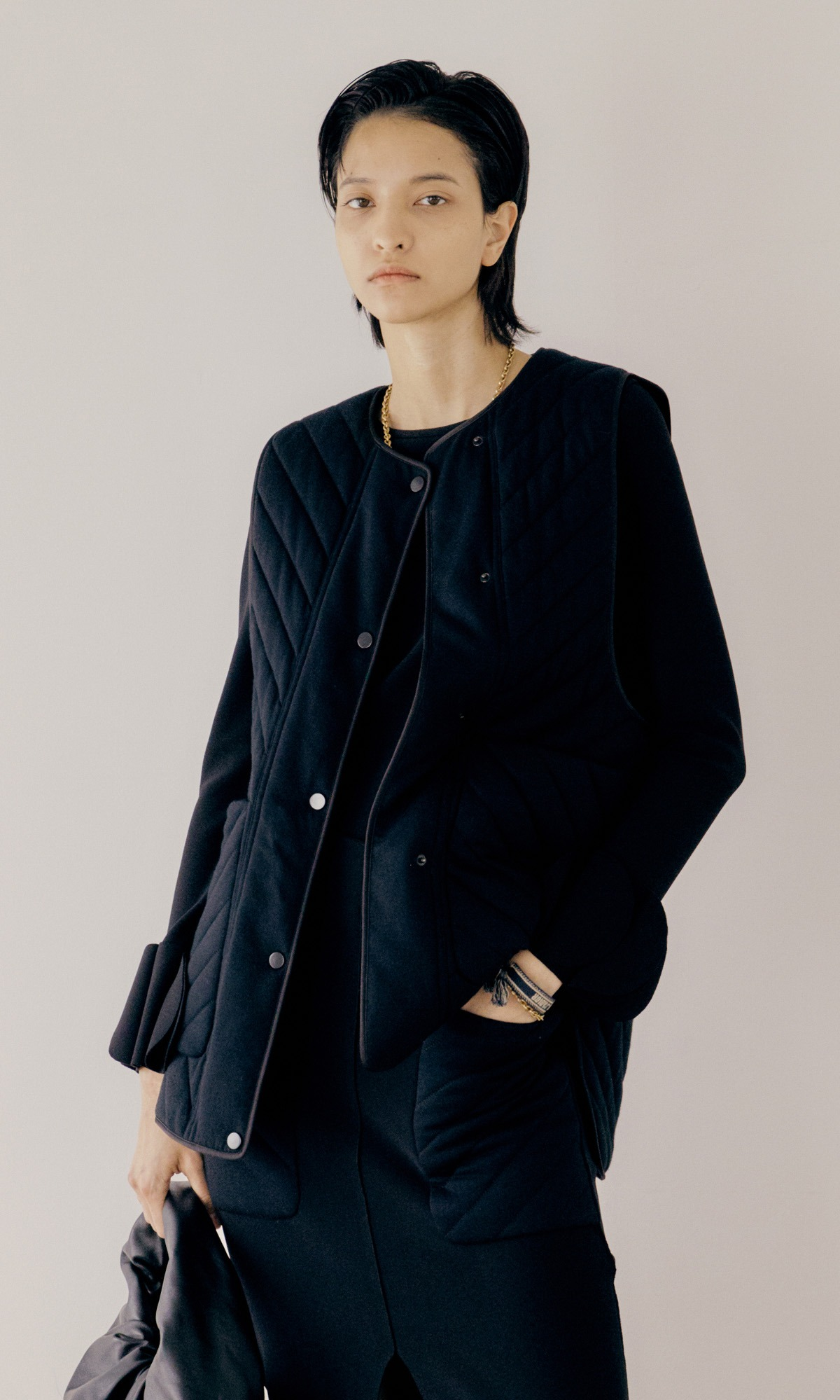 Clair Quilted Vest_Black