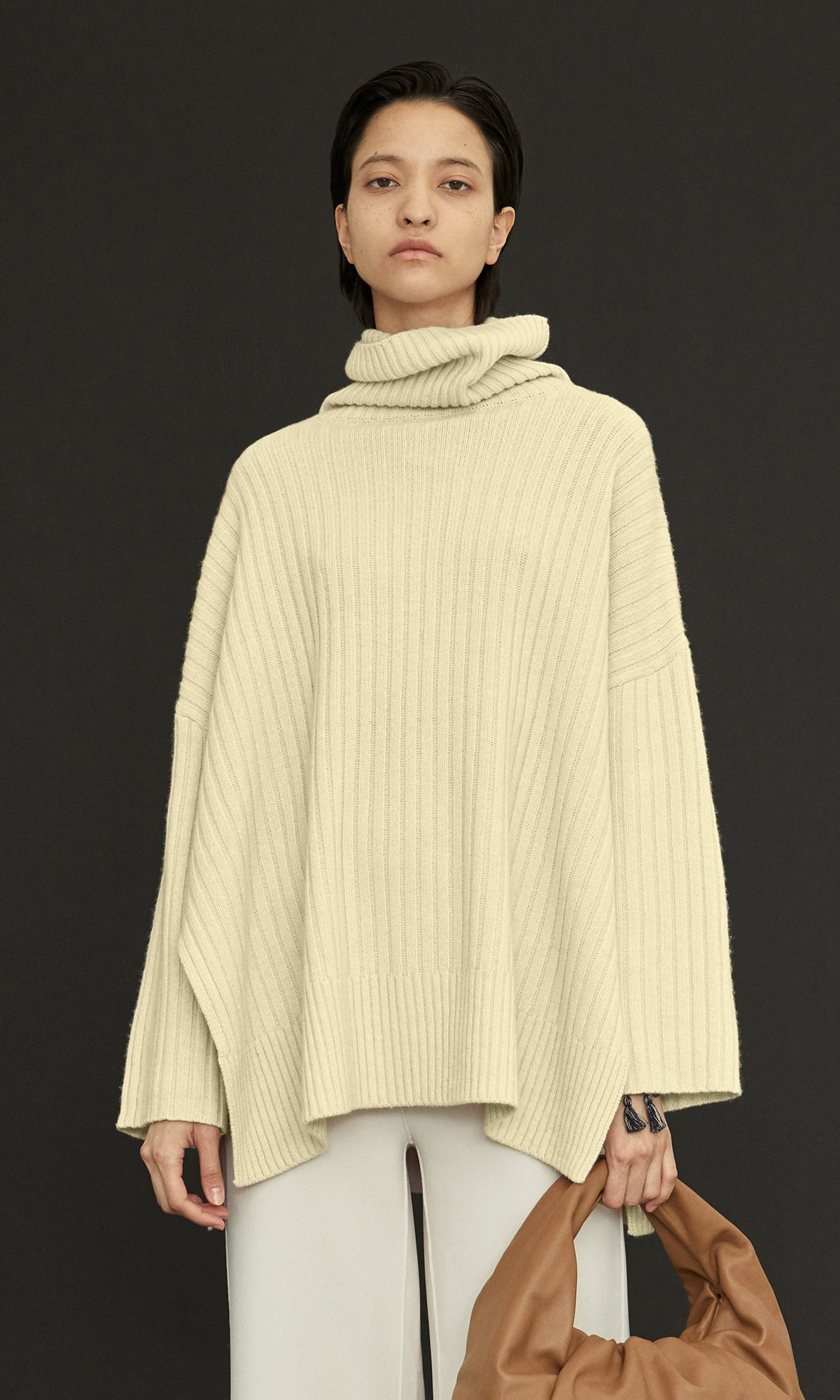 New Cashmere Cape Knit_Lime
