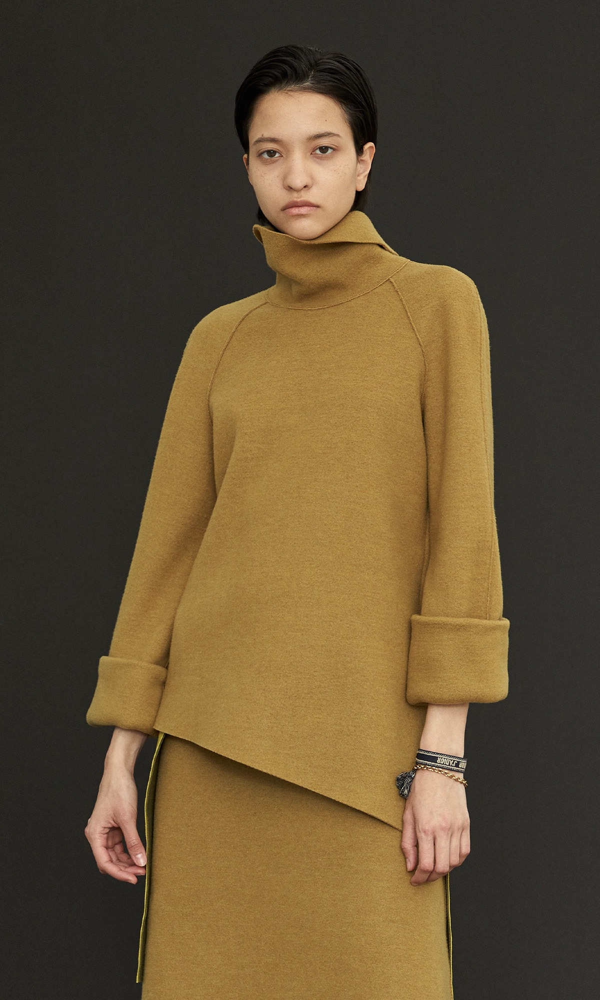 Mocha Crem Knit Top_Olive