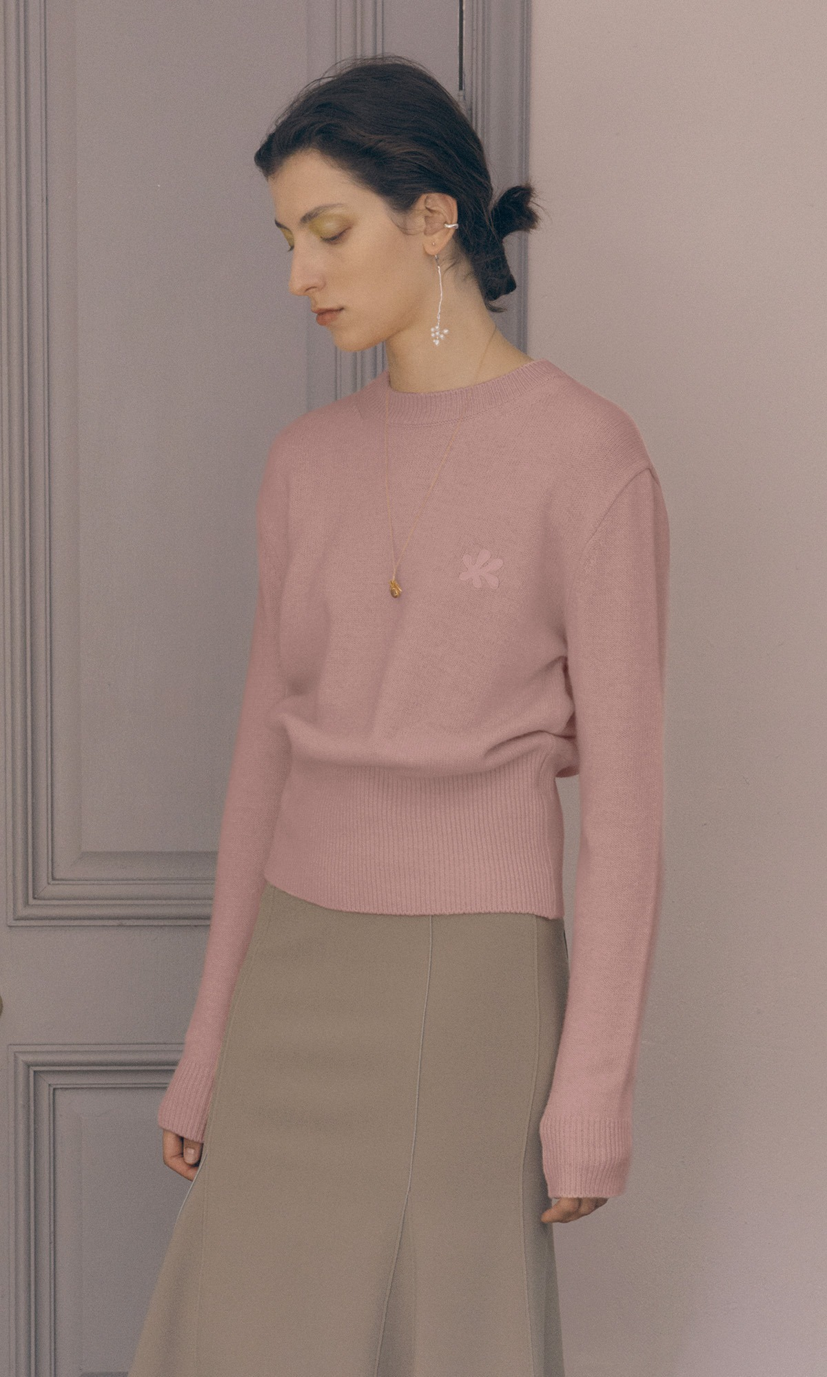 Leaf Cashmere Knit_Dust Pink (1차 리오더)
