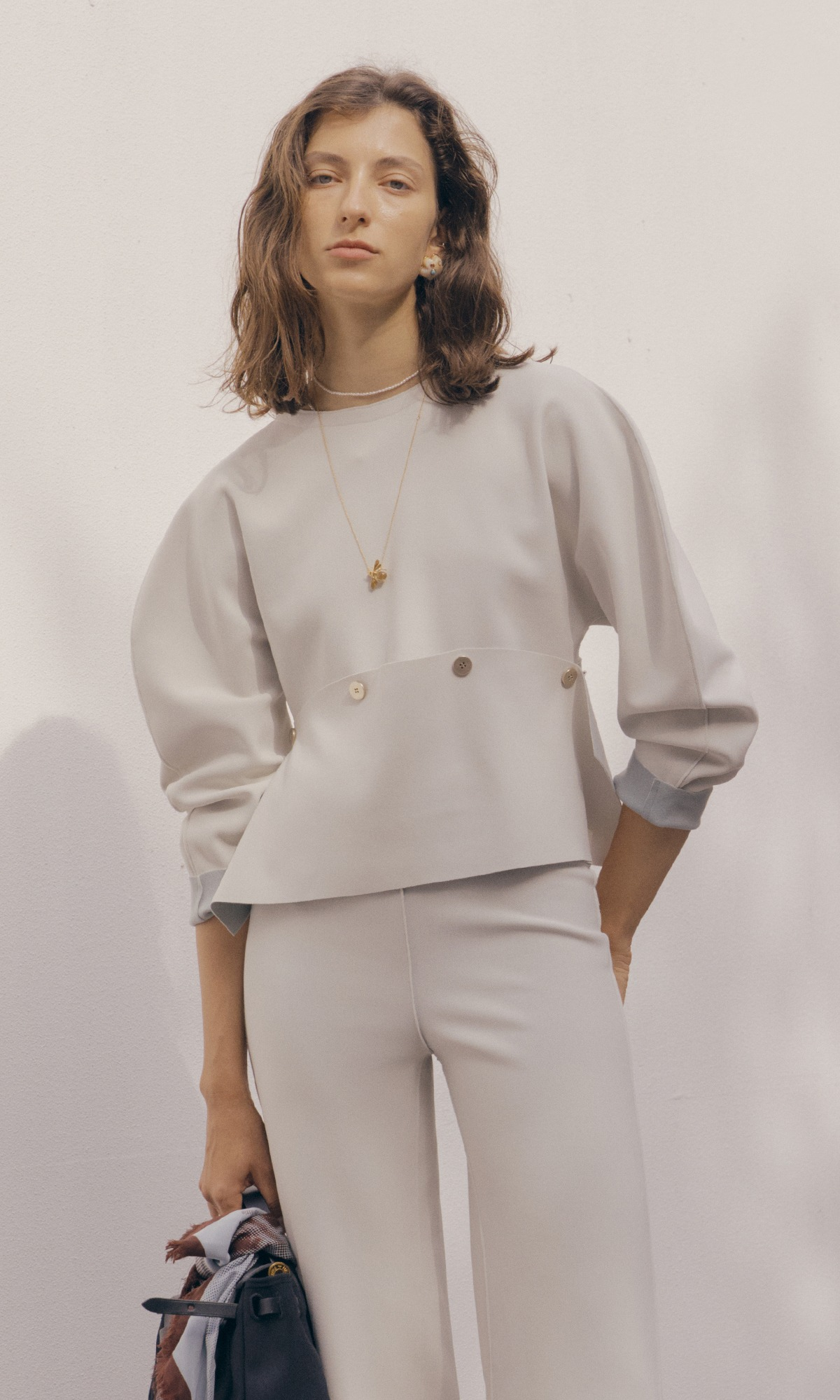 Nilo Button Top_Ivory (1차 리오더)