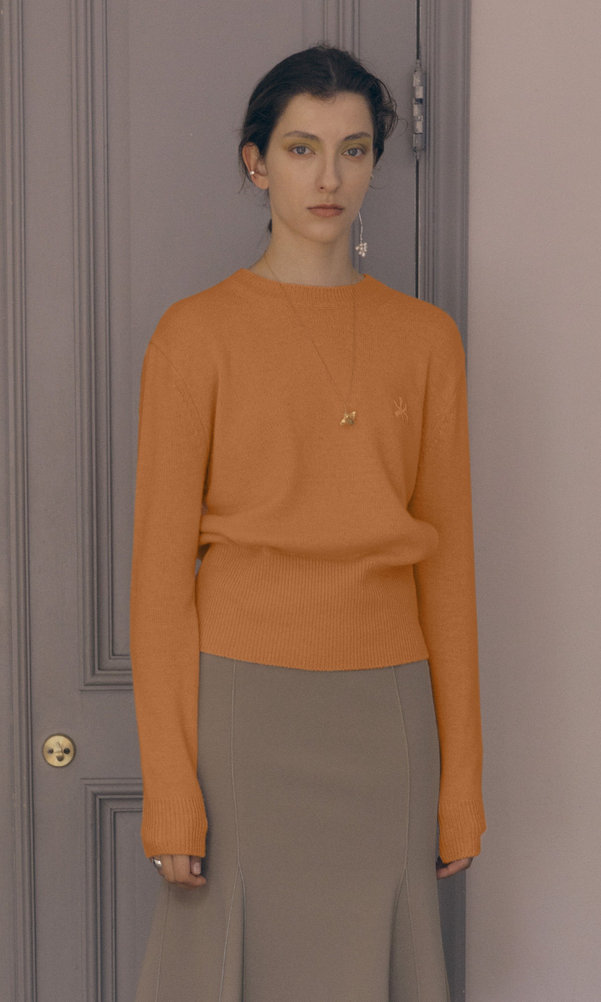Leaf Cashmere Knit_Orange (1차 리오더)