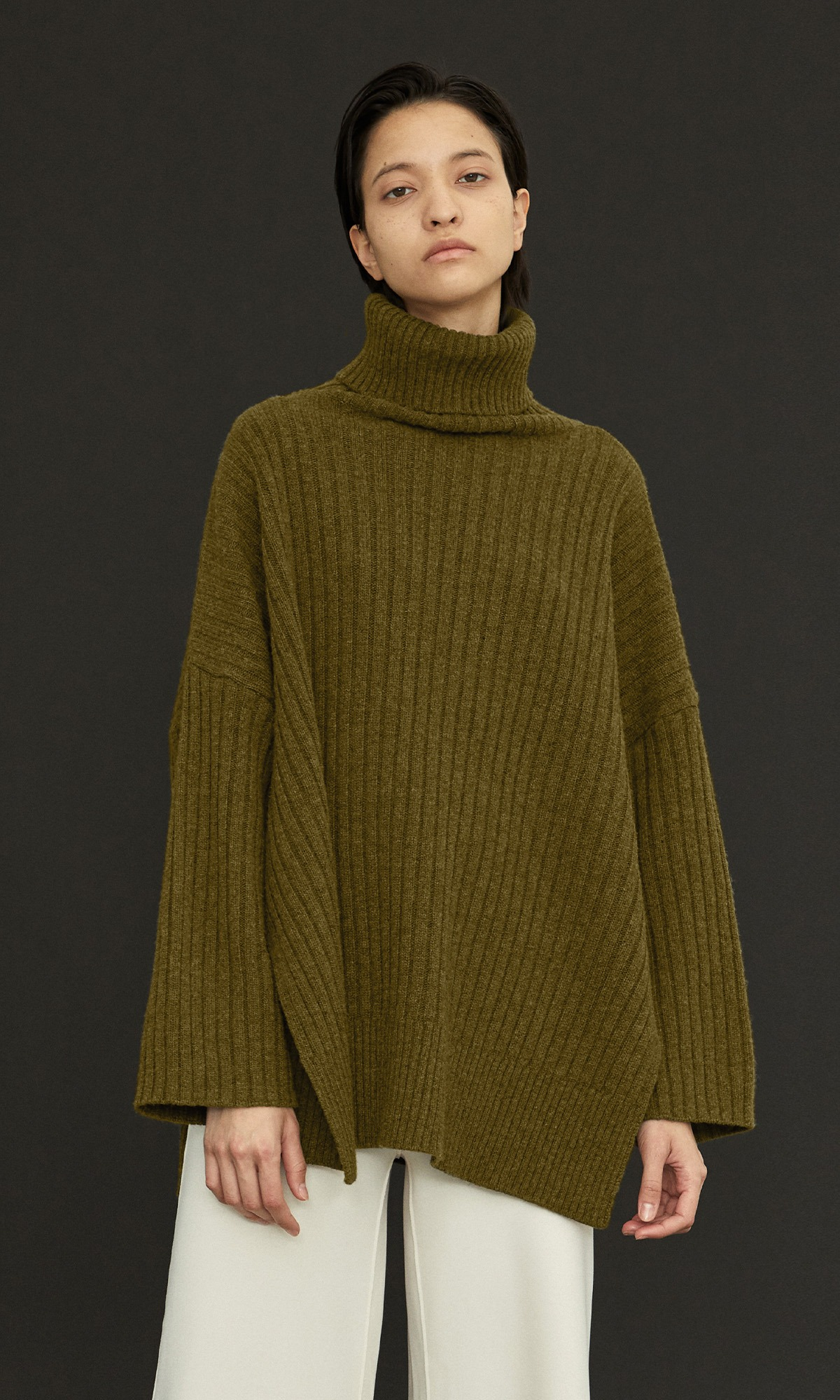 New Cashmere Cape Knit_Mocha