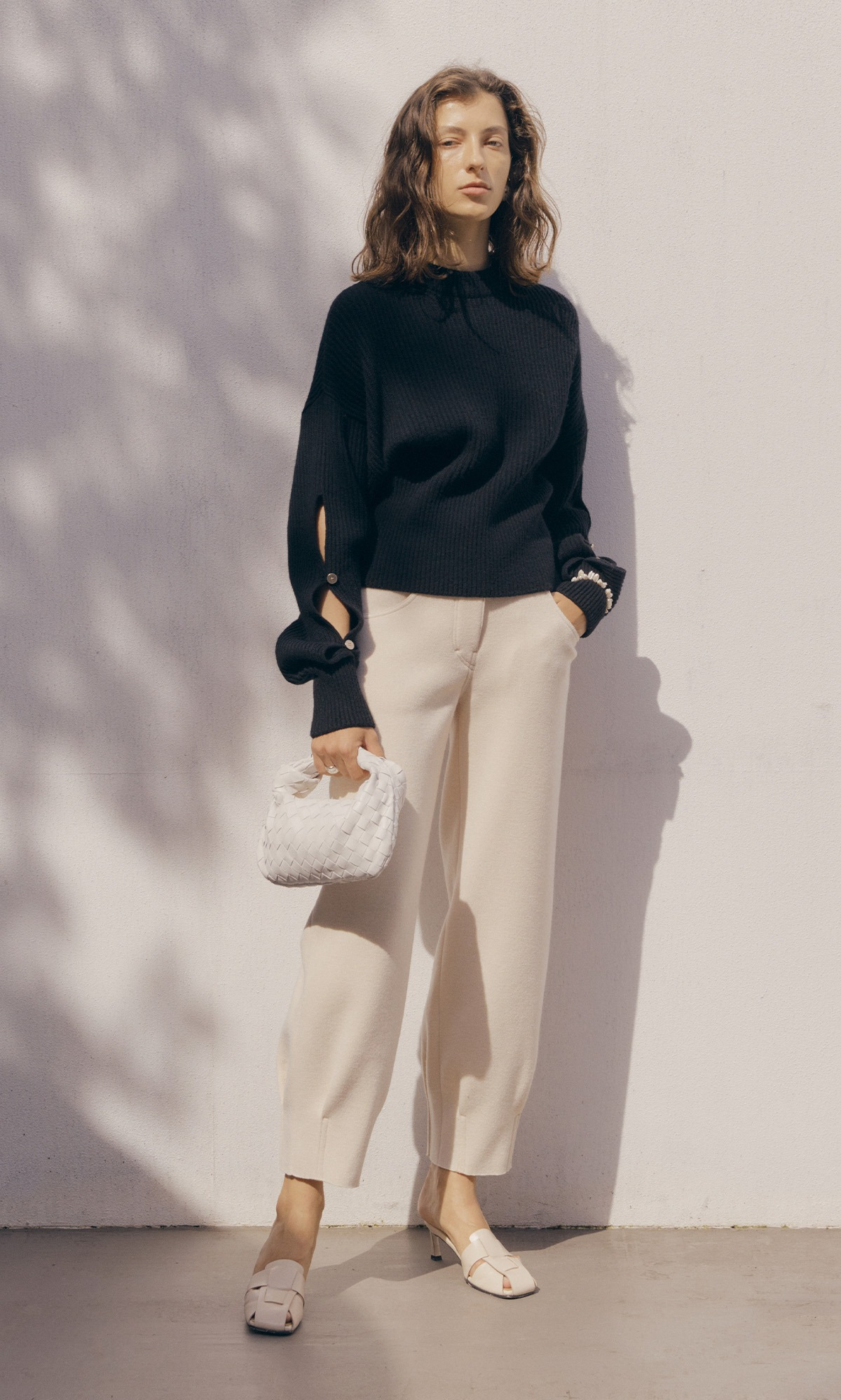 Loy Knit Trouser_Ivory