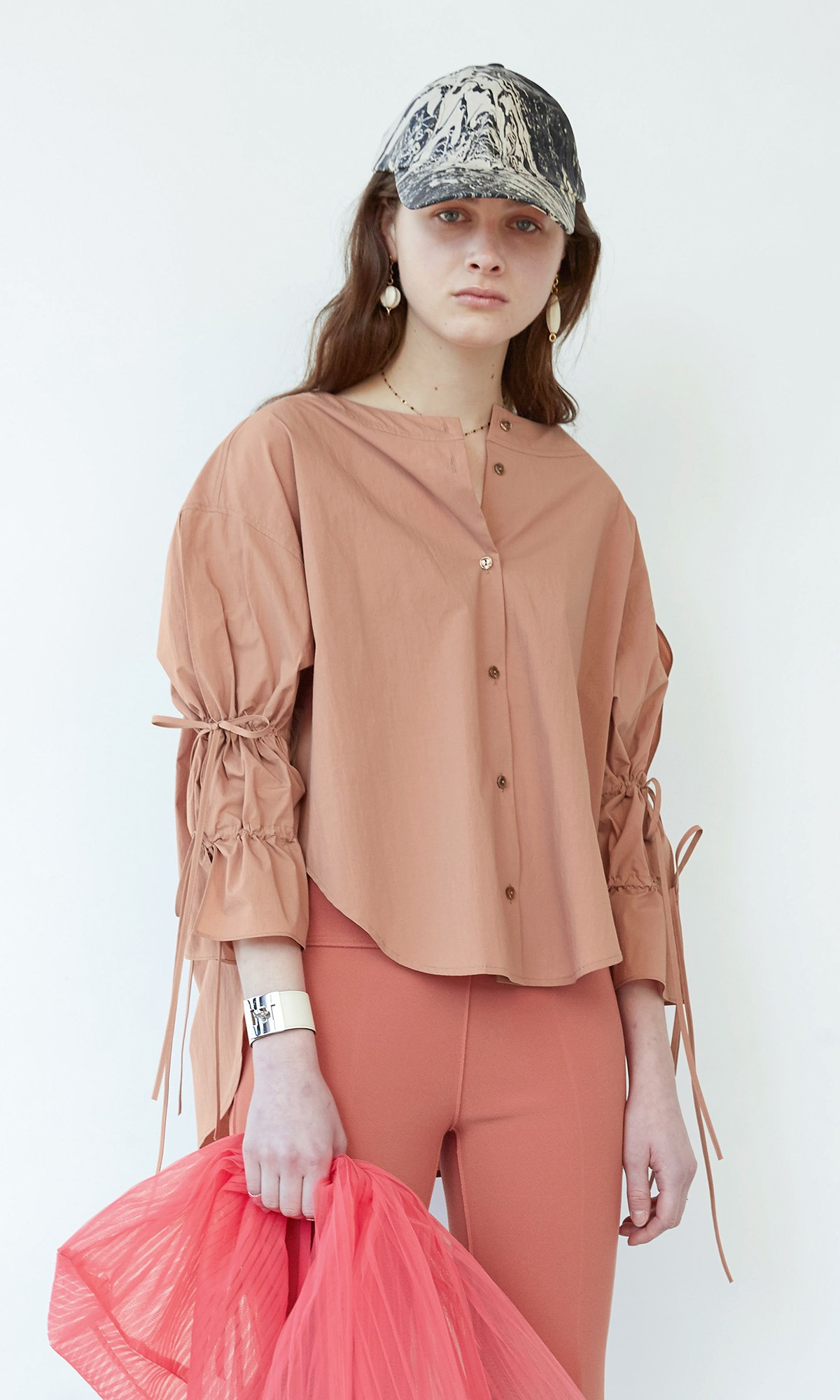 Deef String Shirt_Blush Pink