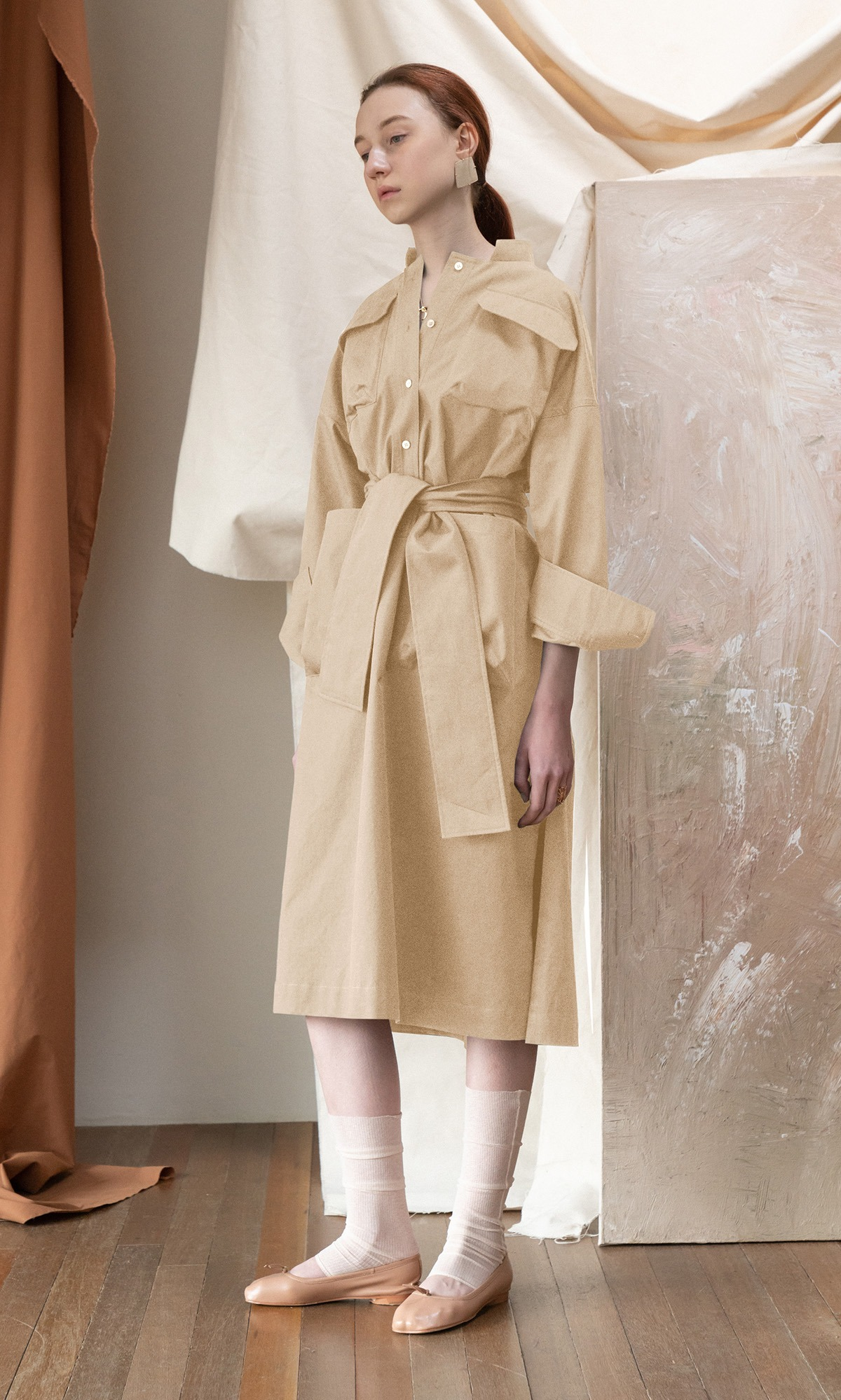 Roanne Shirt Dress_Beige