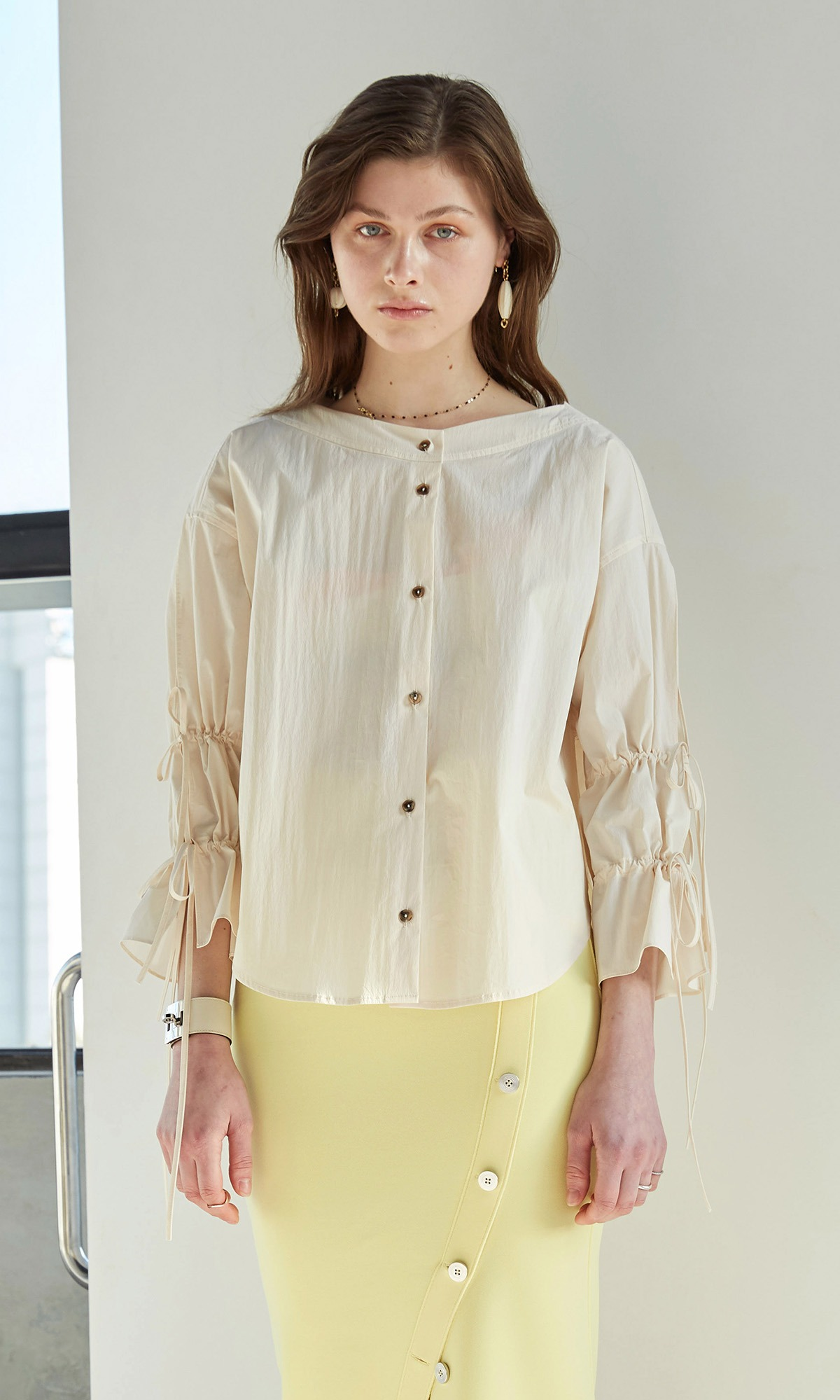 Deef String Shirt_Cream