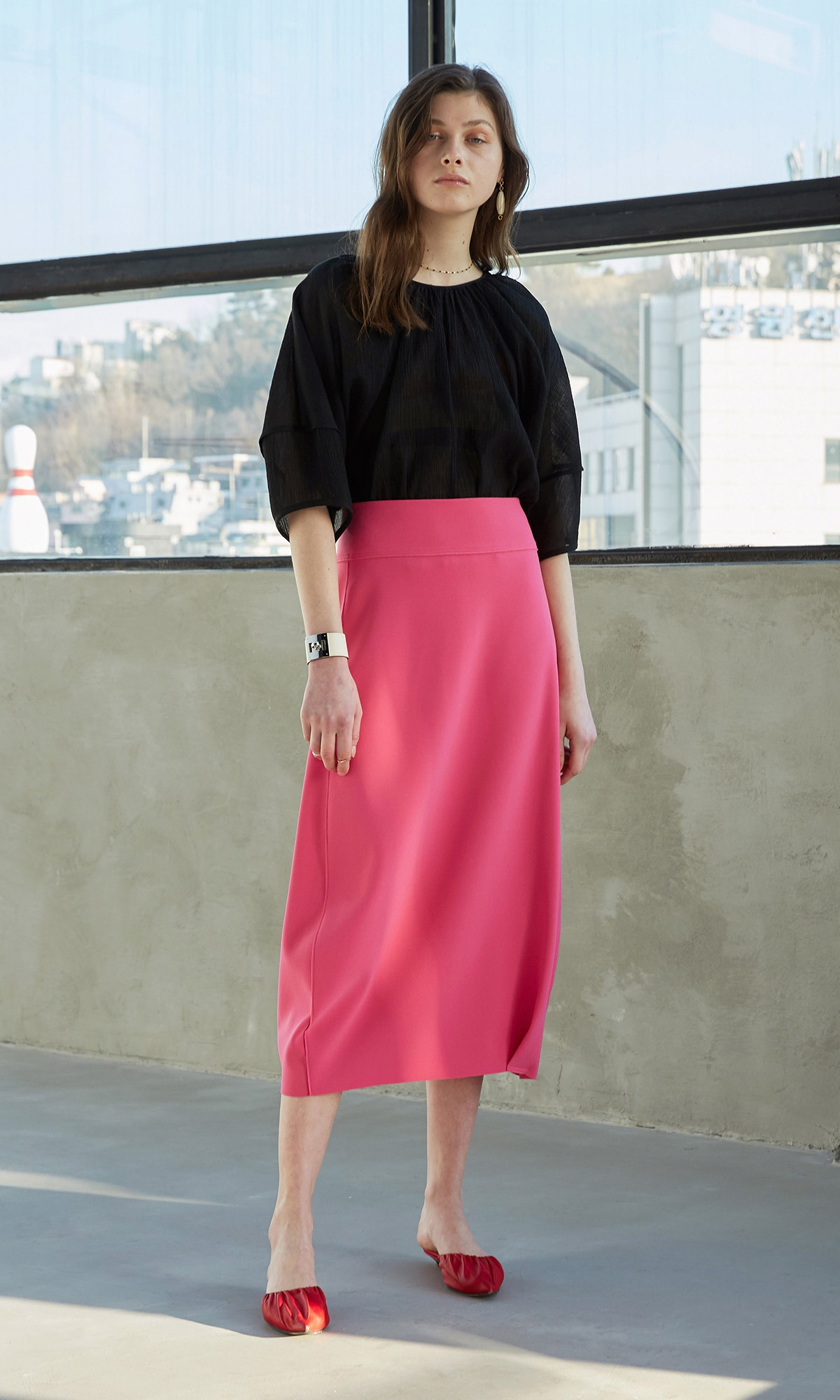 Forum Skirt_Fuchsia Pink (1차 리오더)