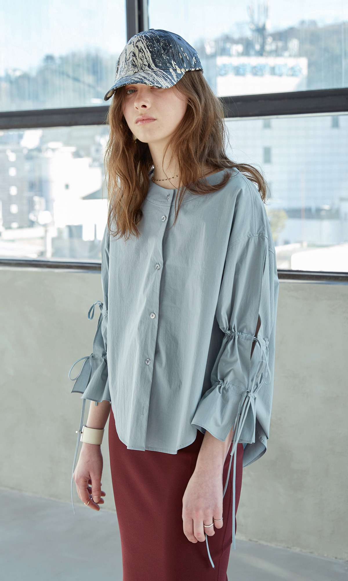 Deef String Shirt_Mint Gray